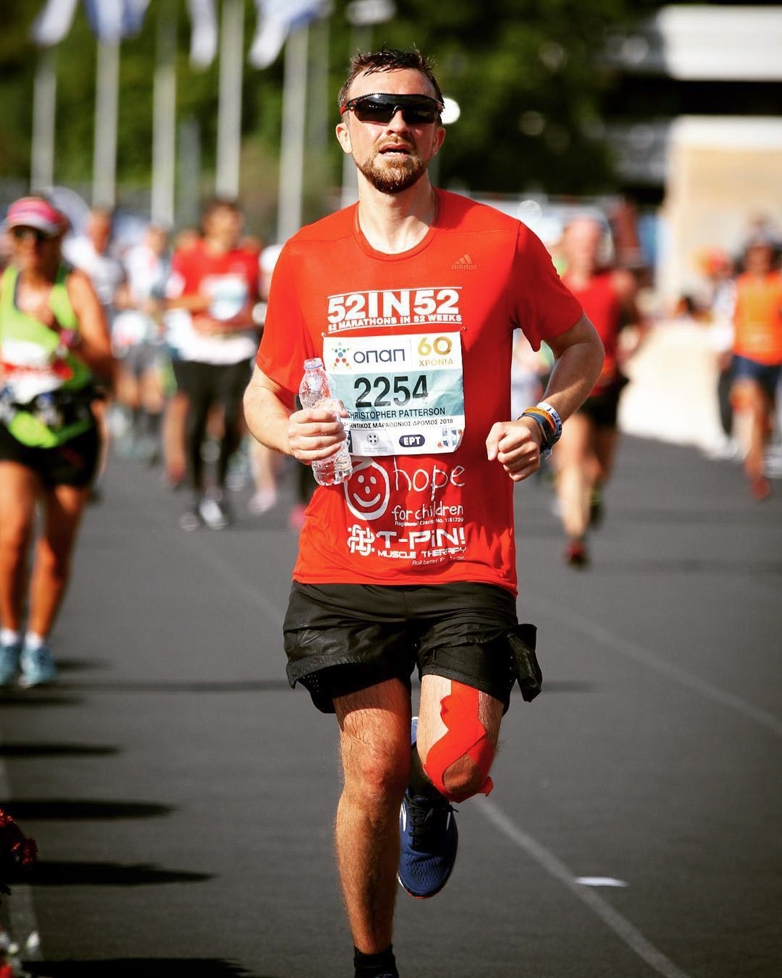 Marathon number 37 out of 52 , the Athens marathon. Running a marathon in Athens is as authentic as it gets!