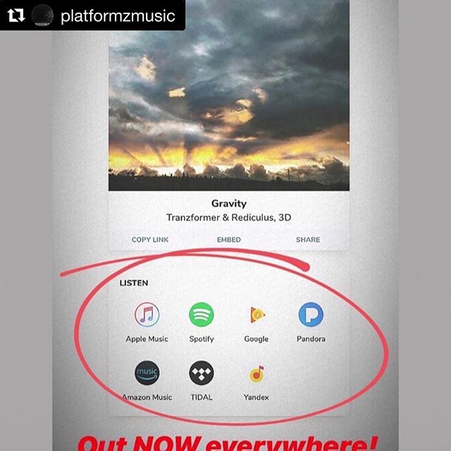 #Repost @platformzmusic with @get_repost ・・・ Posted @withrepost • @tranzformer New music out link in bio !  @platformzmusic  @_inkbybenny  @fivese7encollective  @dirty_dome_records_  Stay tuned for the next drop !