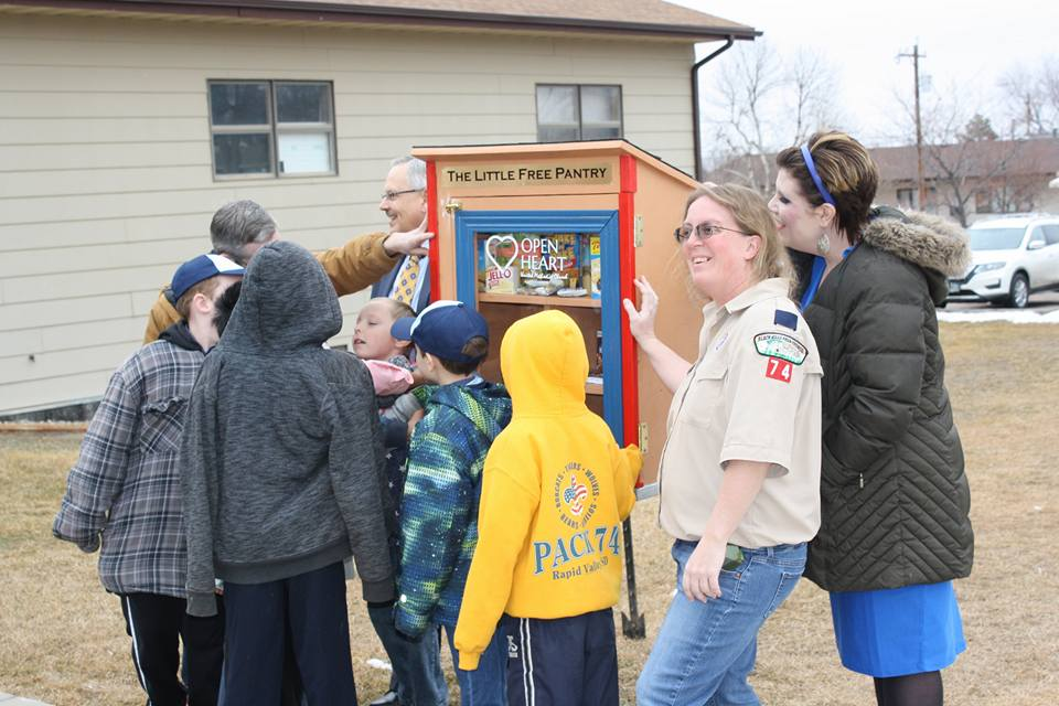 Little Free Pantry - Our Little Free Pantry--installed on our church lawn in April 2018, is a source of non-perishable food items and other necessities for those in need. You can take what you need or leave donations in the box! You may also drop off donations in our church office Monday through Thursdays from 8:30am-12:00pm. Items needed especially in the summer are non-perishable food items that do well in the heat, sunscreen, toiletries, and even bottles of water!