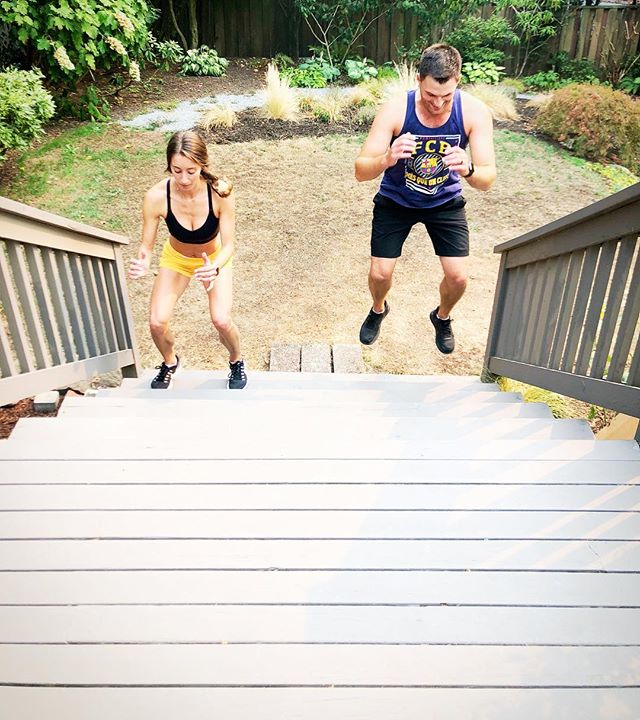 Backyard circuit training with your person #RAD 💪💪