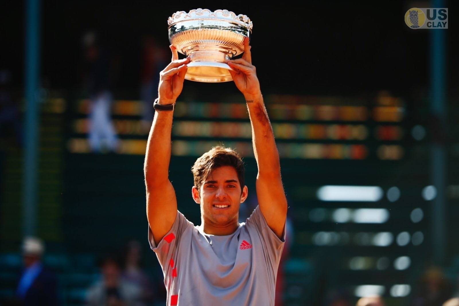 Chile's Christian Garin with the Championship trophy