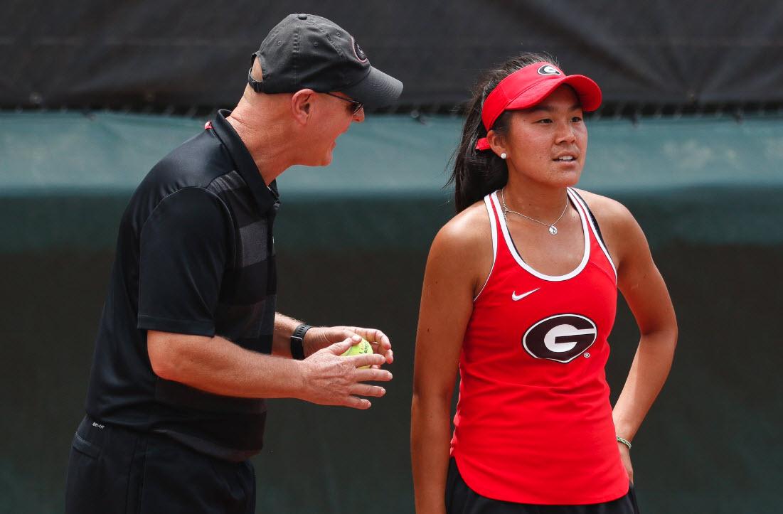 University of Georgia Head Coach    Jeff Wallace    & Junior    Marta Gonzalez