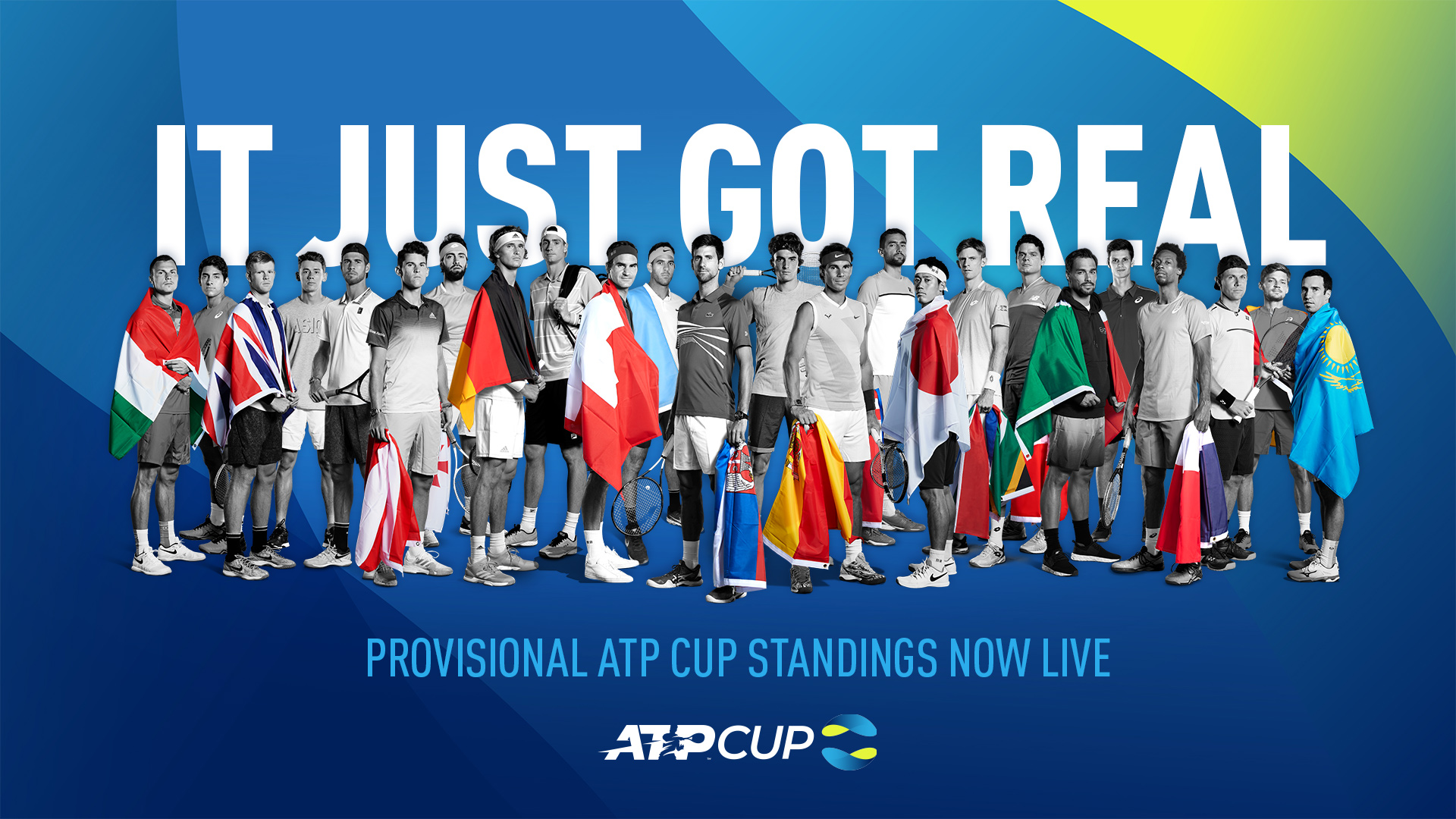 The 2019 ATP Cup Standings are now live and available to view