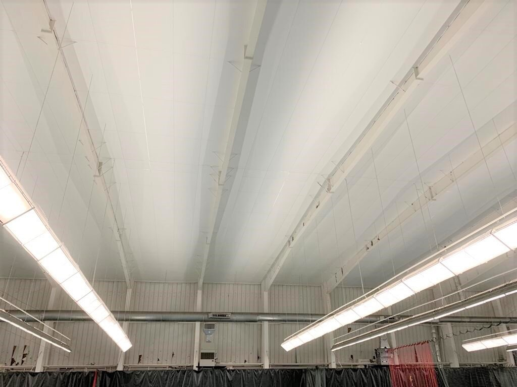 Our team installed our Reflective ceiling liner over the clubs indoor tennis court.