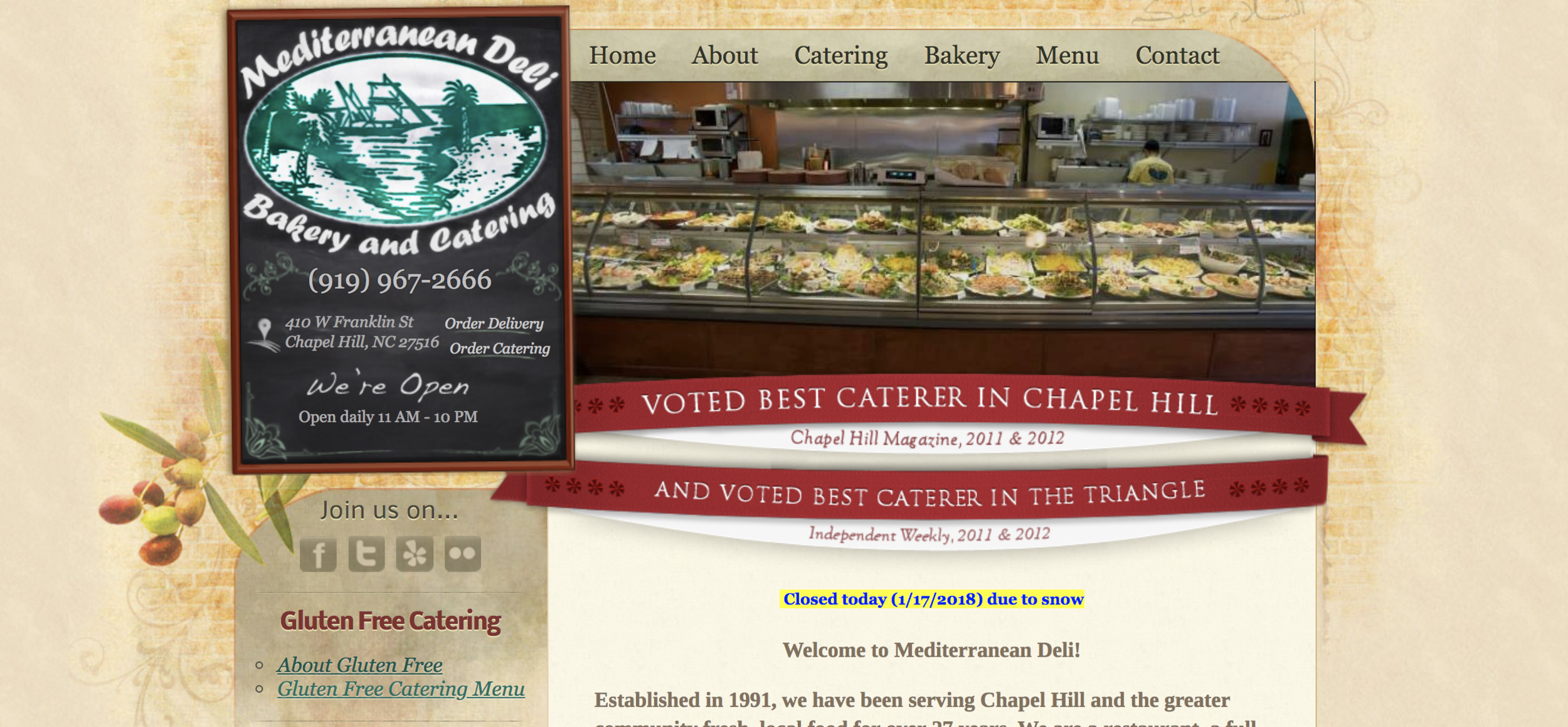 Our old website, launched in 2010