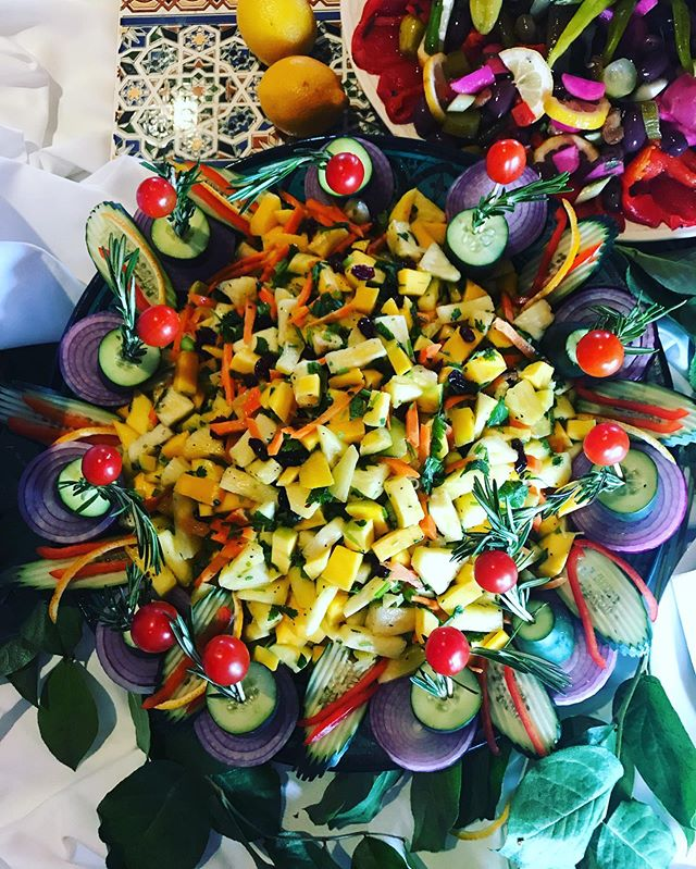 Mango Pineapple Salad 😍😍 #mediterranean #cuisine #food #garnished #beautiful #fresh #wedding #catering