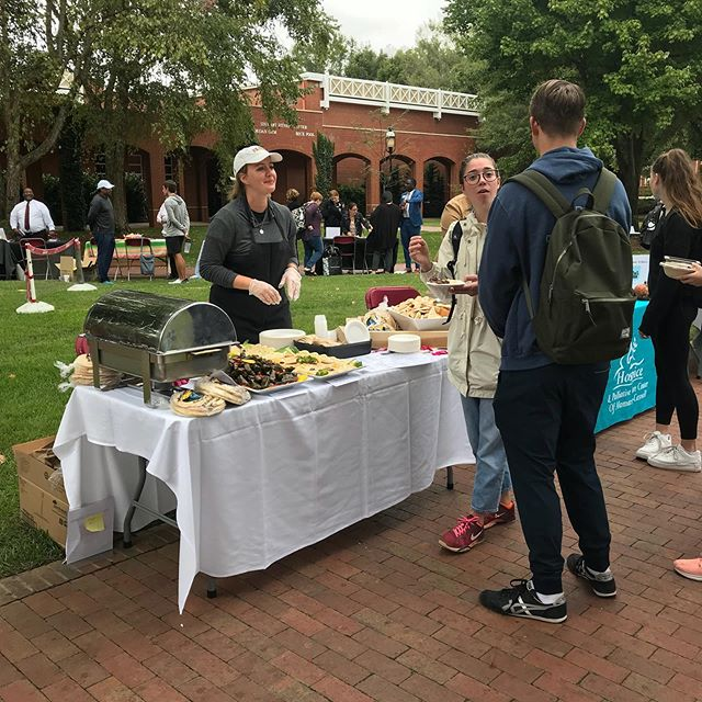 Had a great day at the Wellness Fair in Elon! Samples of Hummus, pita, grape leaves, and gyro as a representative of physical and emotional wellness. There is nothing like a good meal to bring you peace of mind!