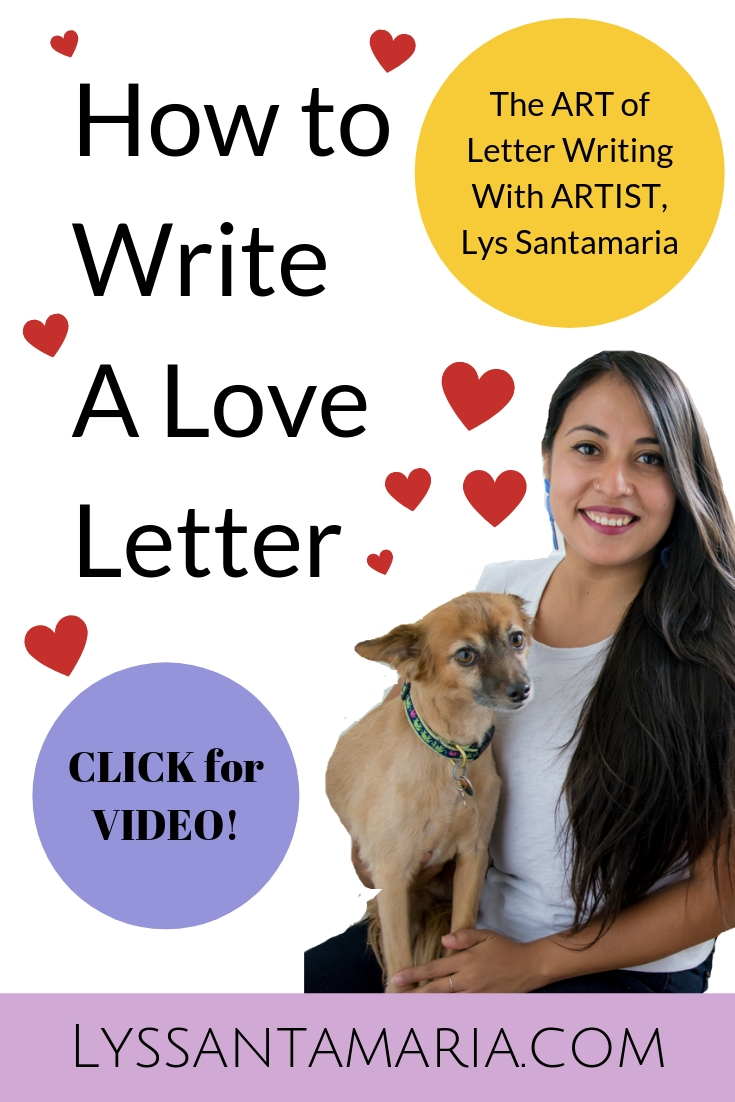 How to Write a Love Letter with Lys Santamaria Beadwork Artist