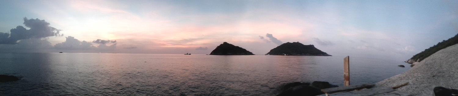 View from turtle island in Thailand.