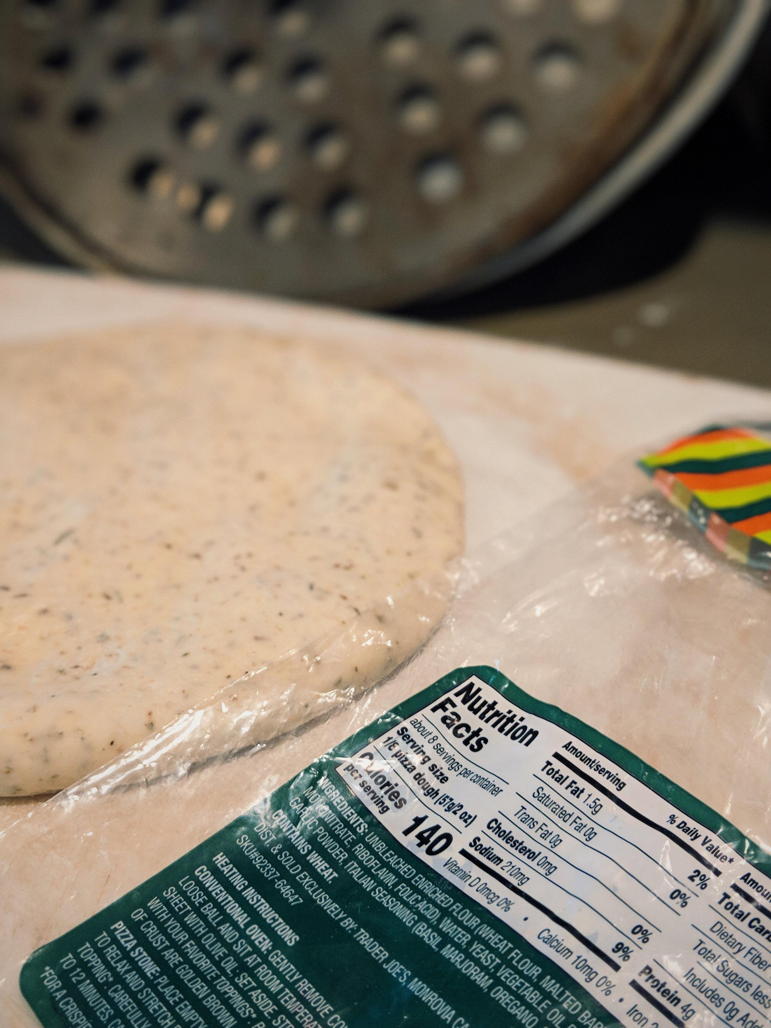 Get the pizza dough. I prefer the garlic herb.
