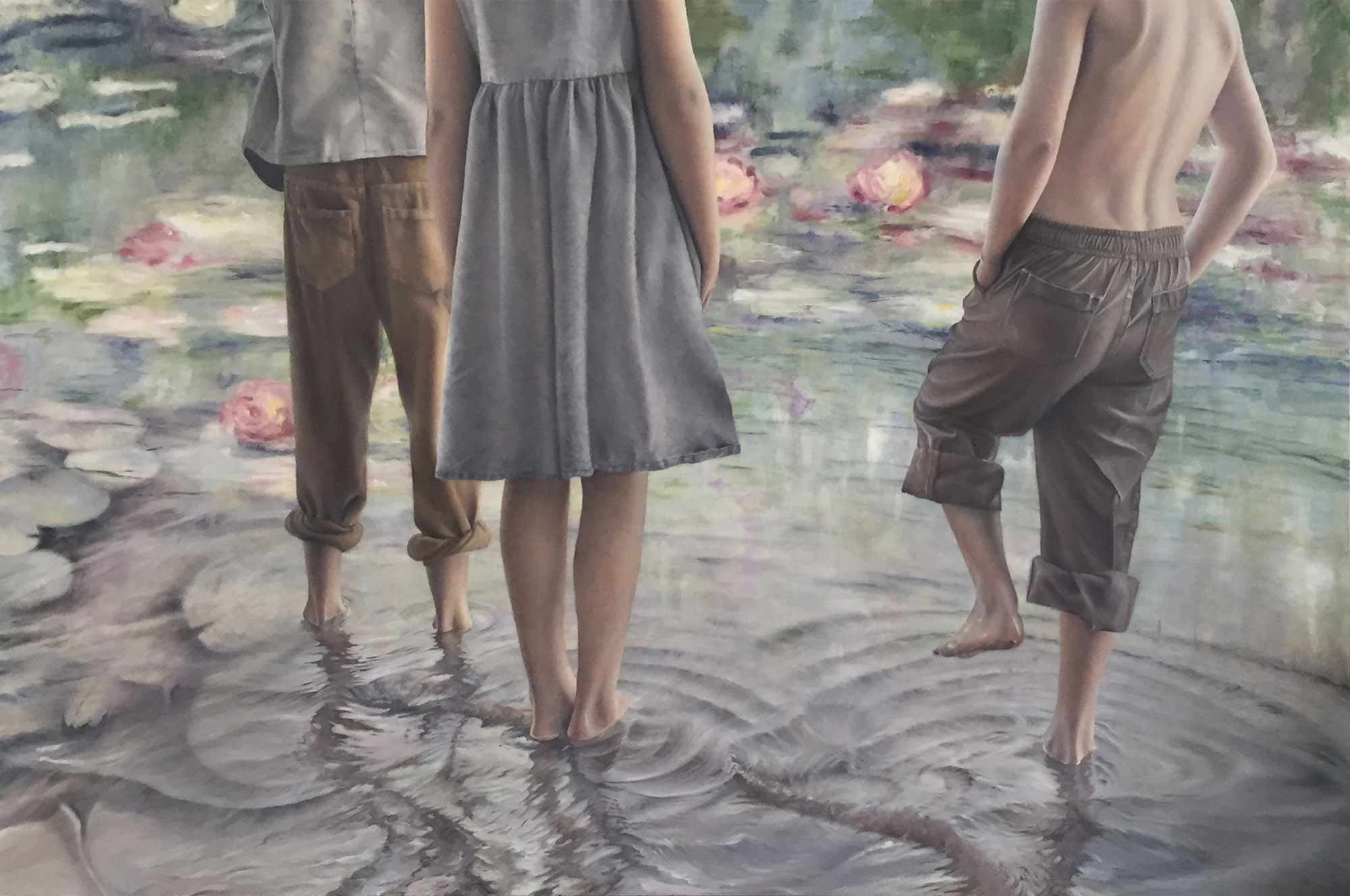 Among the Lilies | 24x36 Oil on Panel |SOLD