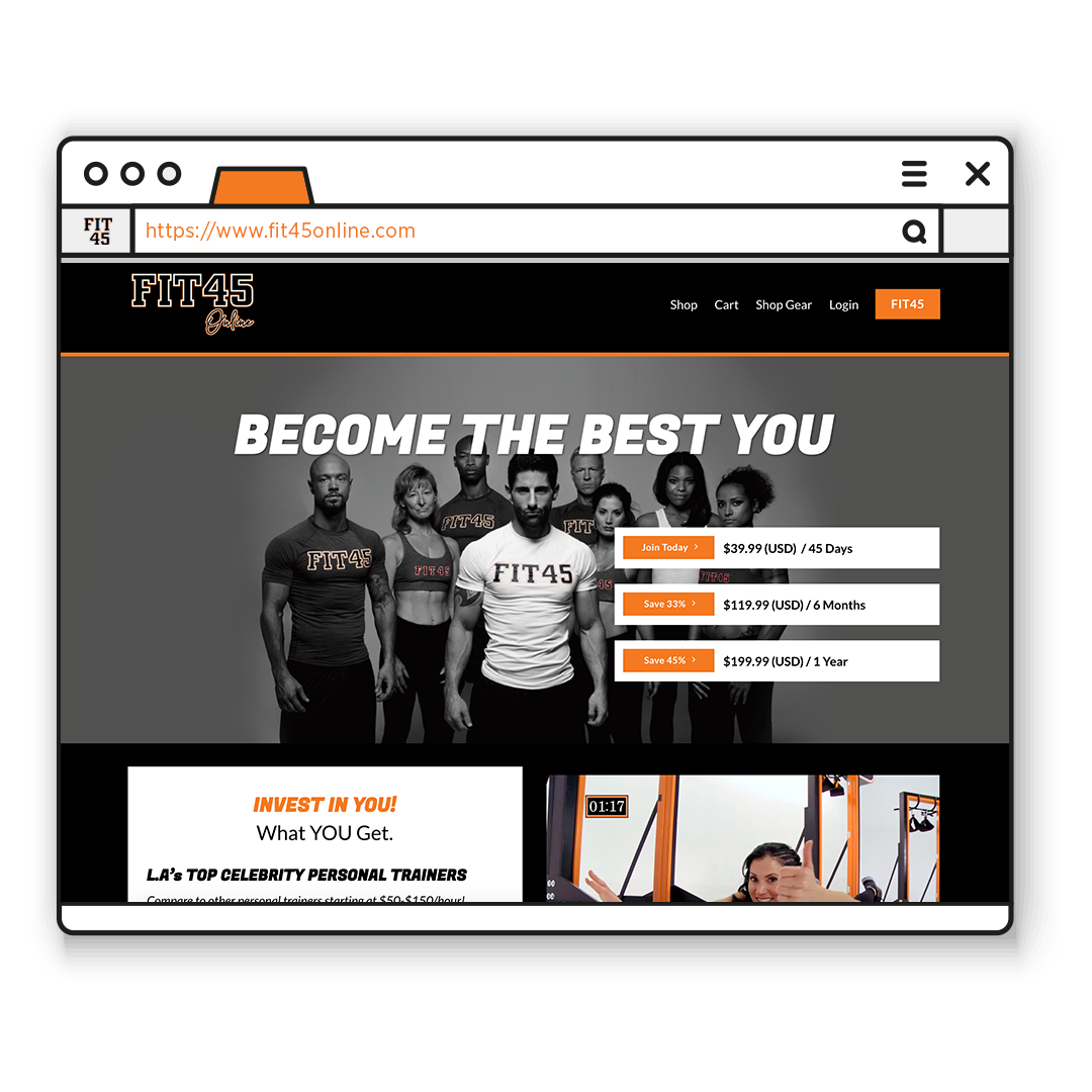 Fit45 Online: Fitness Membership