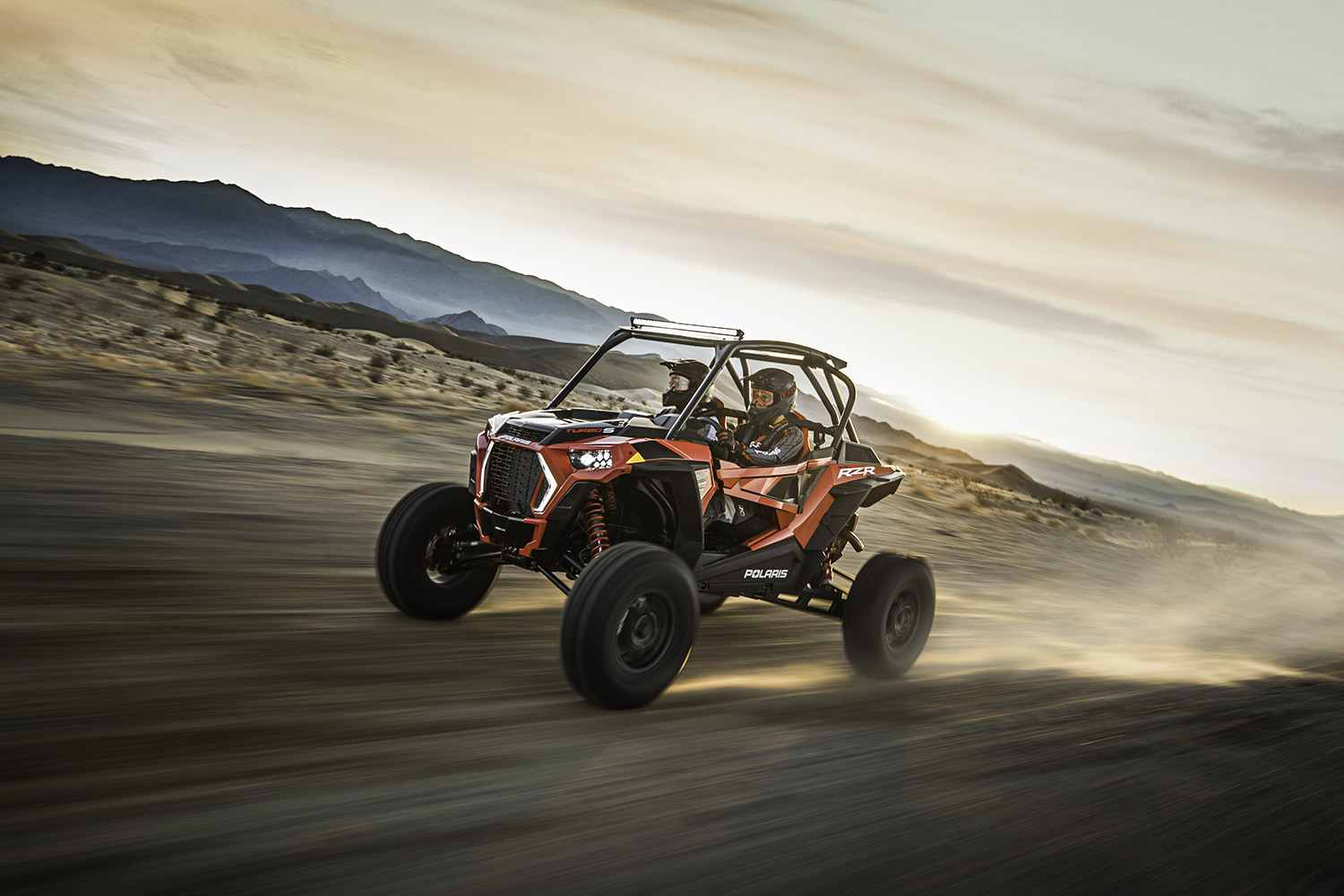 The powersports performer is put through its paces in the Nevada Desert—and doesn't disappoint, while also proving Polaris' latest monster off-roader has a soft side that is more Jaguar than John Deere. - Polaris RZR XP Turbo S