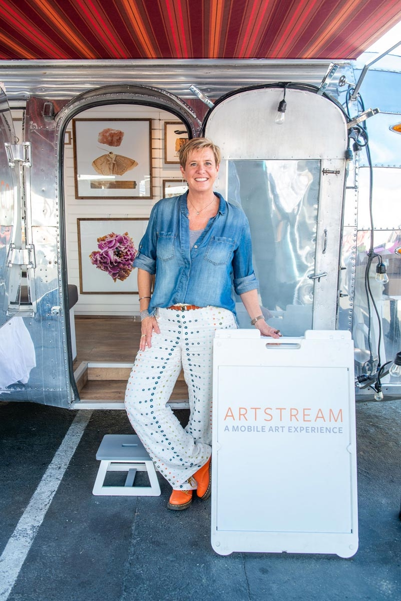"Artstream: Bringing Art to the People - Melanie Victor-Smith took the concept ""Have Art Will Travel"" literally with her new mobile art gallery, ""Artstream"". With a retrofitted 1954 Airstream she represents local artists who celebrate the beauty of the Bay Area."