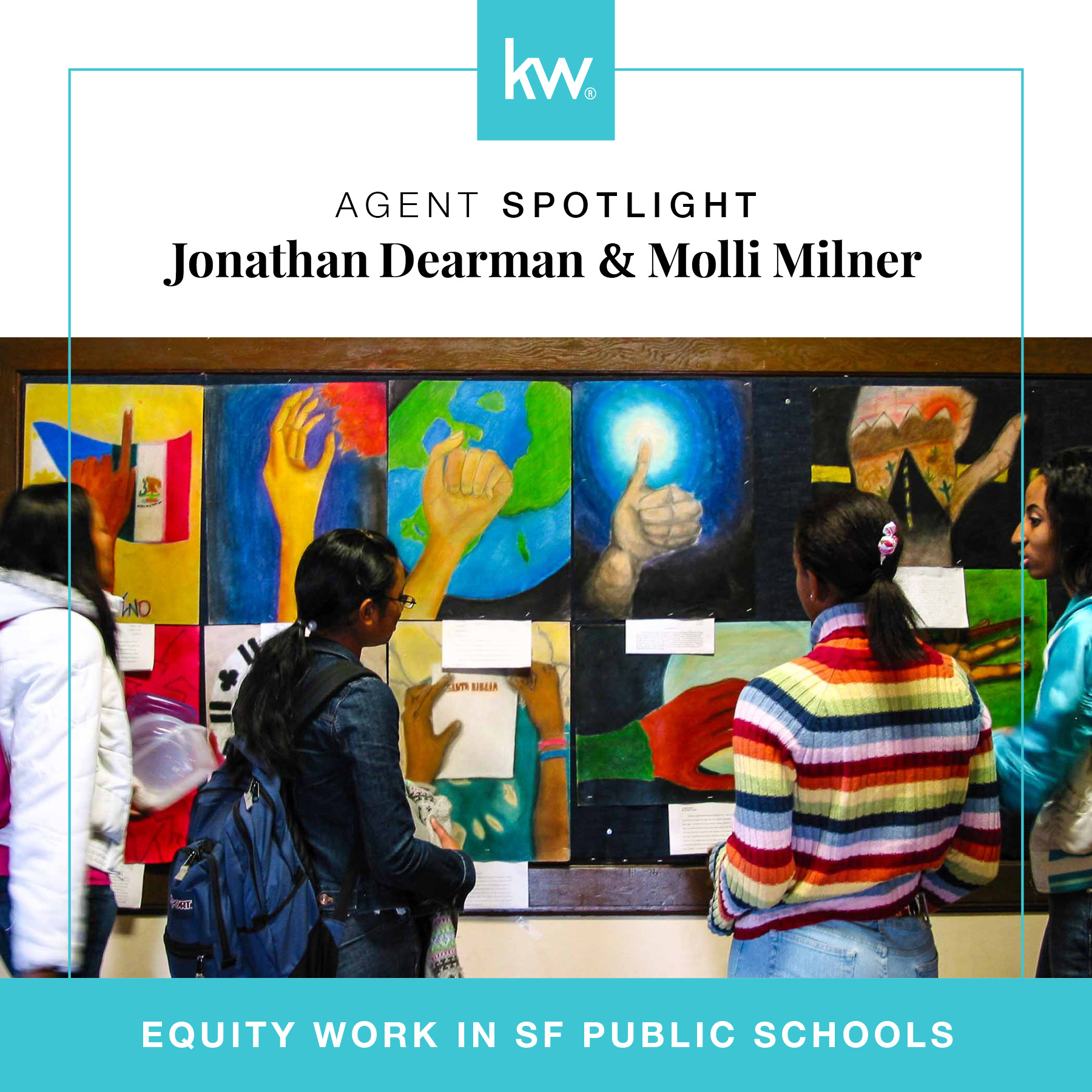 "Keeping Kids in the Classroom: Equity Work in SF Public Schools - Keller Williams is one of the largest real estate franchises in the country. The San Francisco office wanted to highlight the philanthropic work agents are doing in their communities. We strategized and created monthly ""Spotlight Interviews"" to tell those stories. Agents are nominated, by their peers, for a Q&A style piece that's featured on the Keller Williams SF blog."