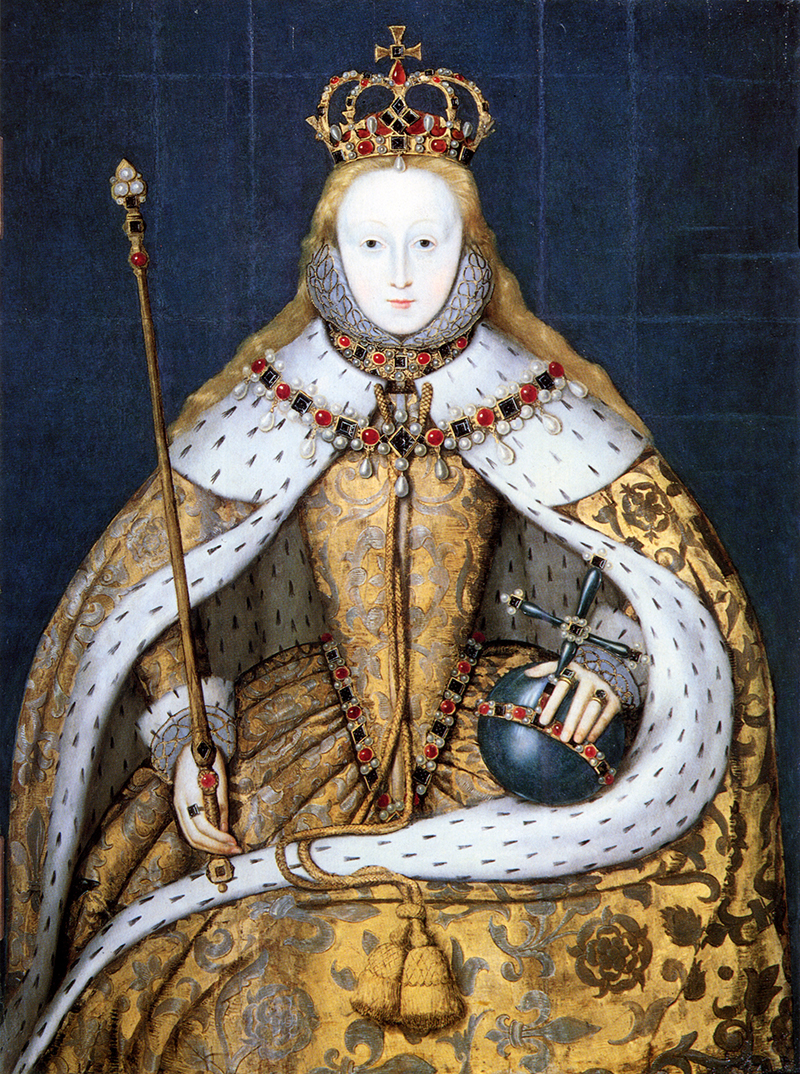 'The Coronation Portrait' by an unknown artist, c. 1600. National Portrait Gallery, London.