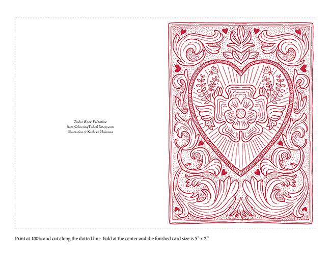Tudor Rose Valentine Printable
