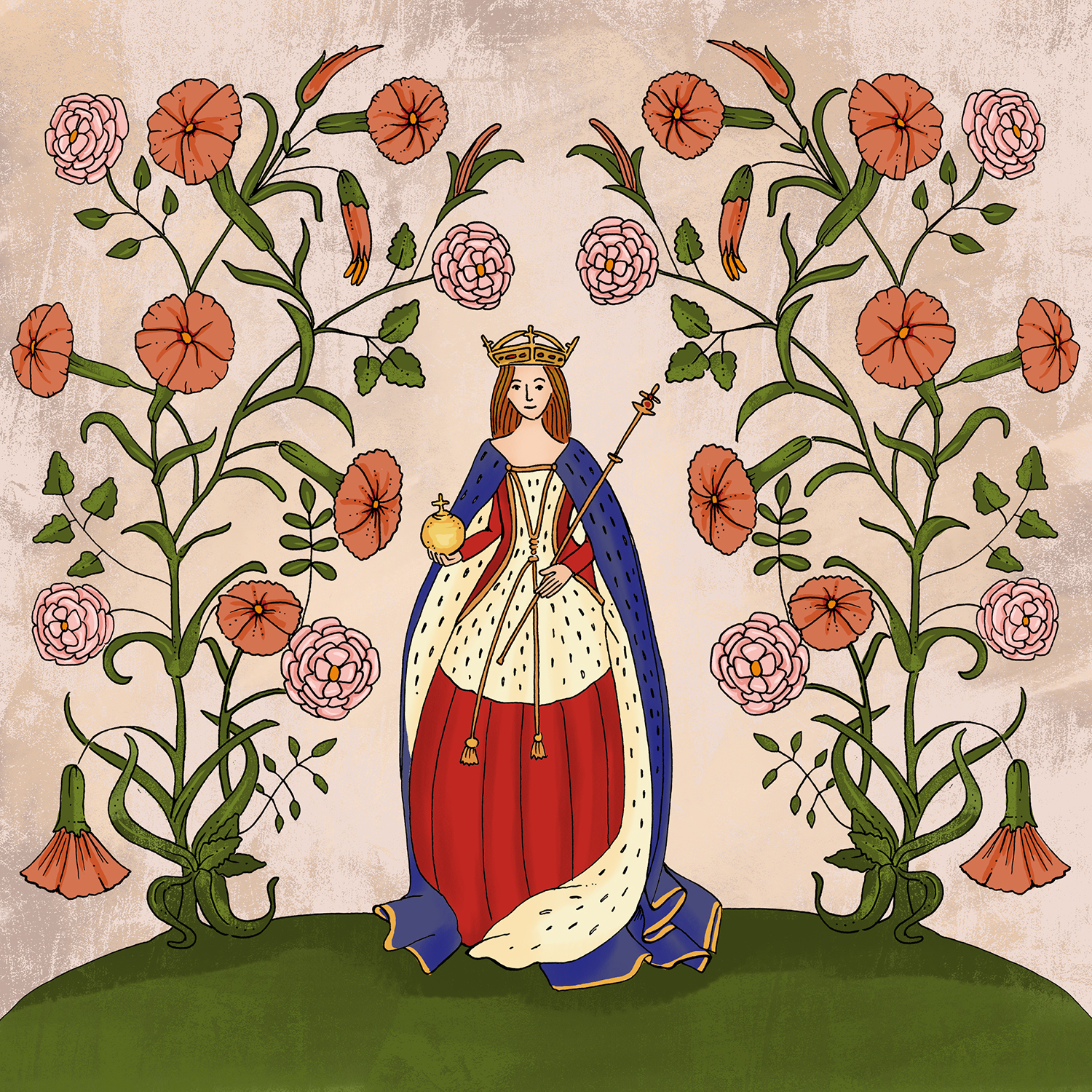 Elizabeth Woodville in Coronation Robes