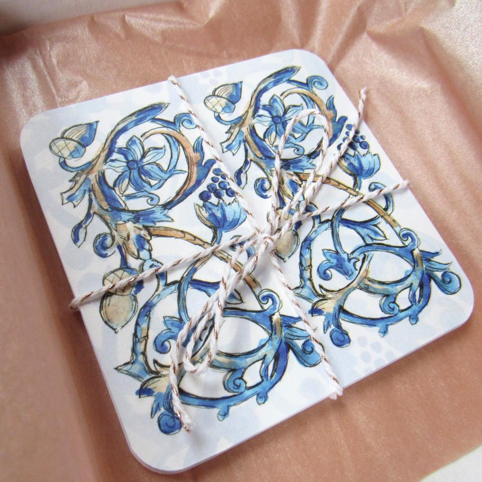 Tudor Pattern Coaster Set