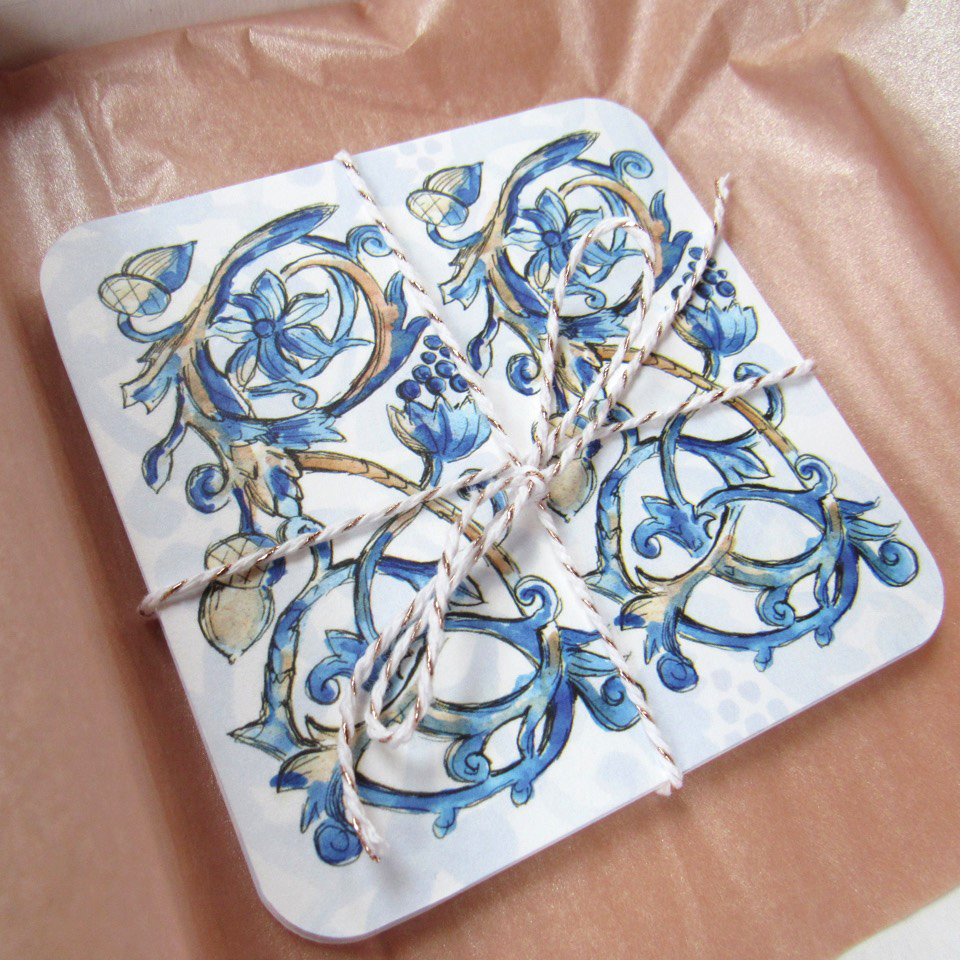 Tudor Pattern Coasters