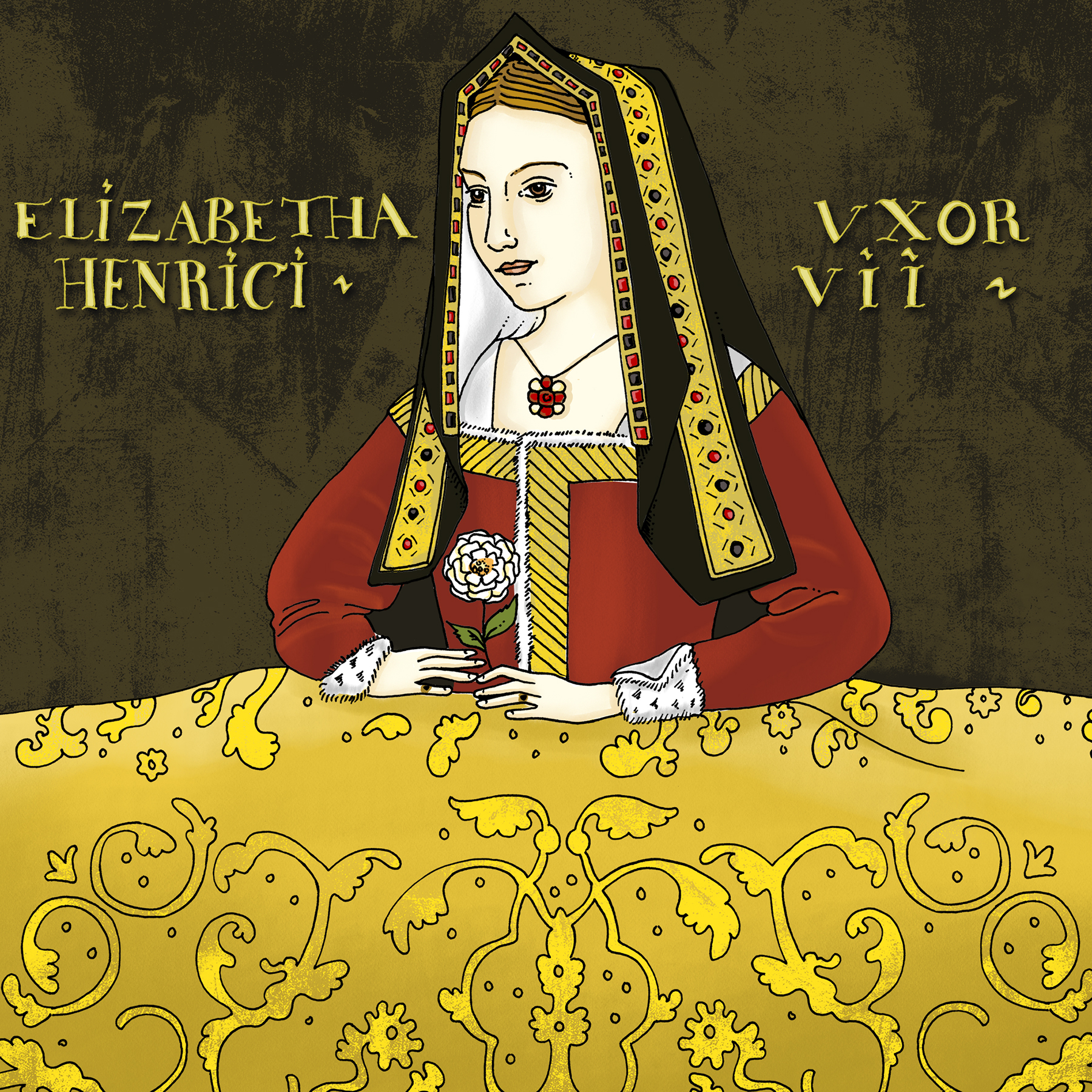 Inside the Book: Portrait of Elizabeth of York — Colouring Tudor History