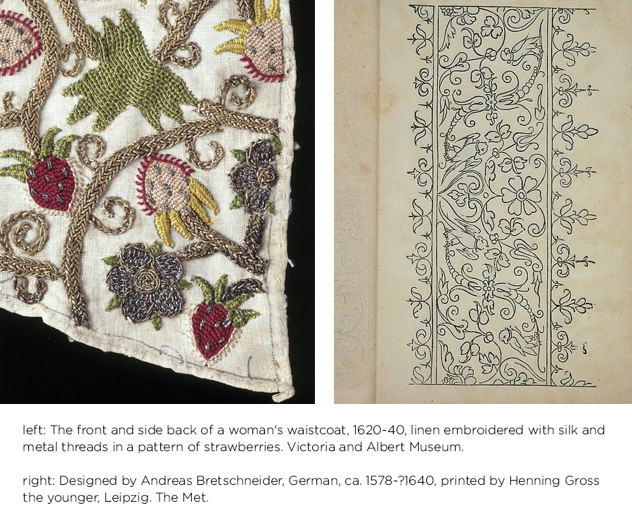 Tudor Queens and Consorts floral embroider