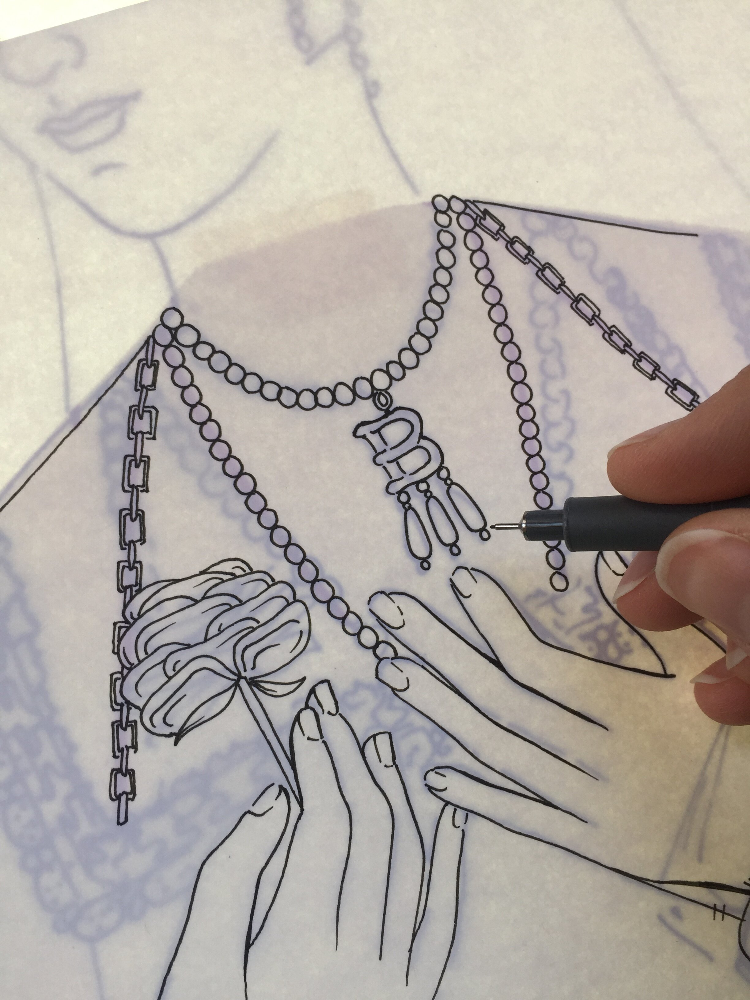 Inking stage for the Anne Boleyn page.