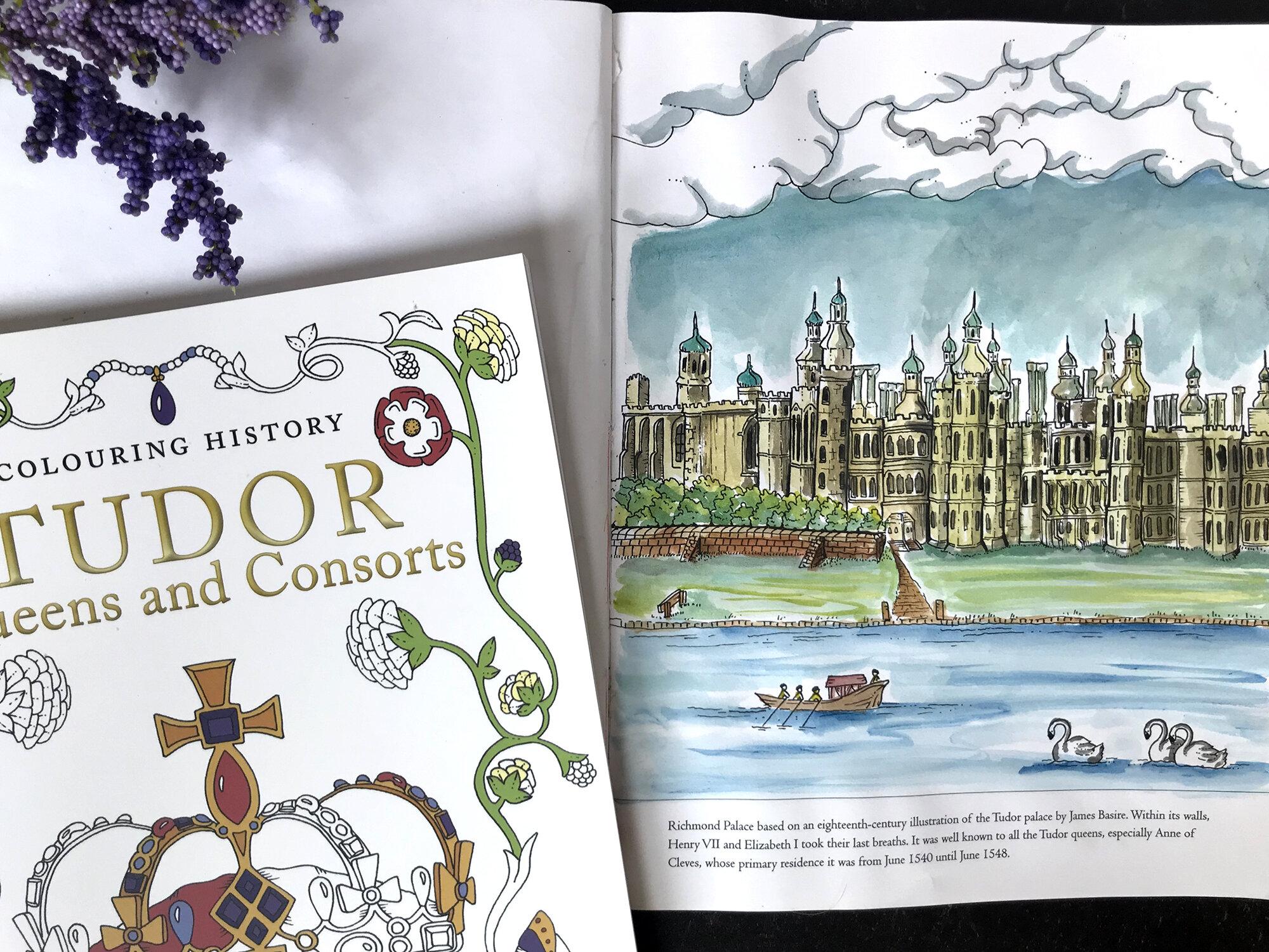 Richmond Palace from Colouring Tudor History