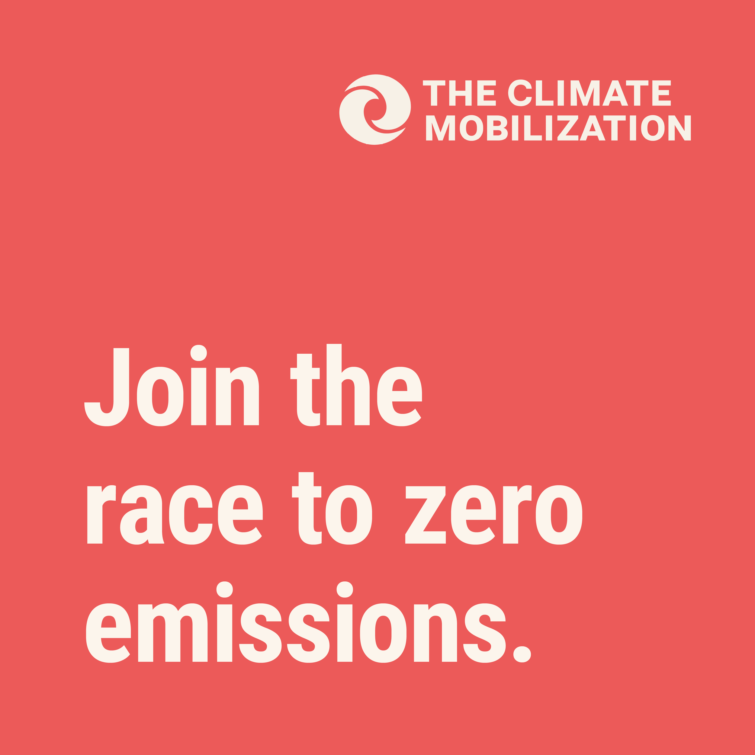 Join the race to zero emissions - The Climate Mobilization
