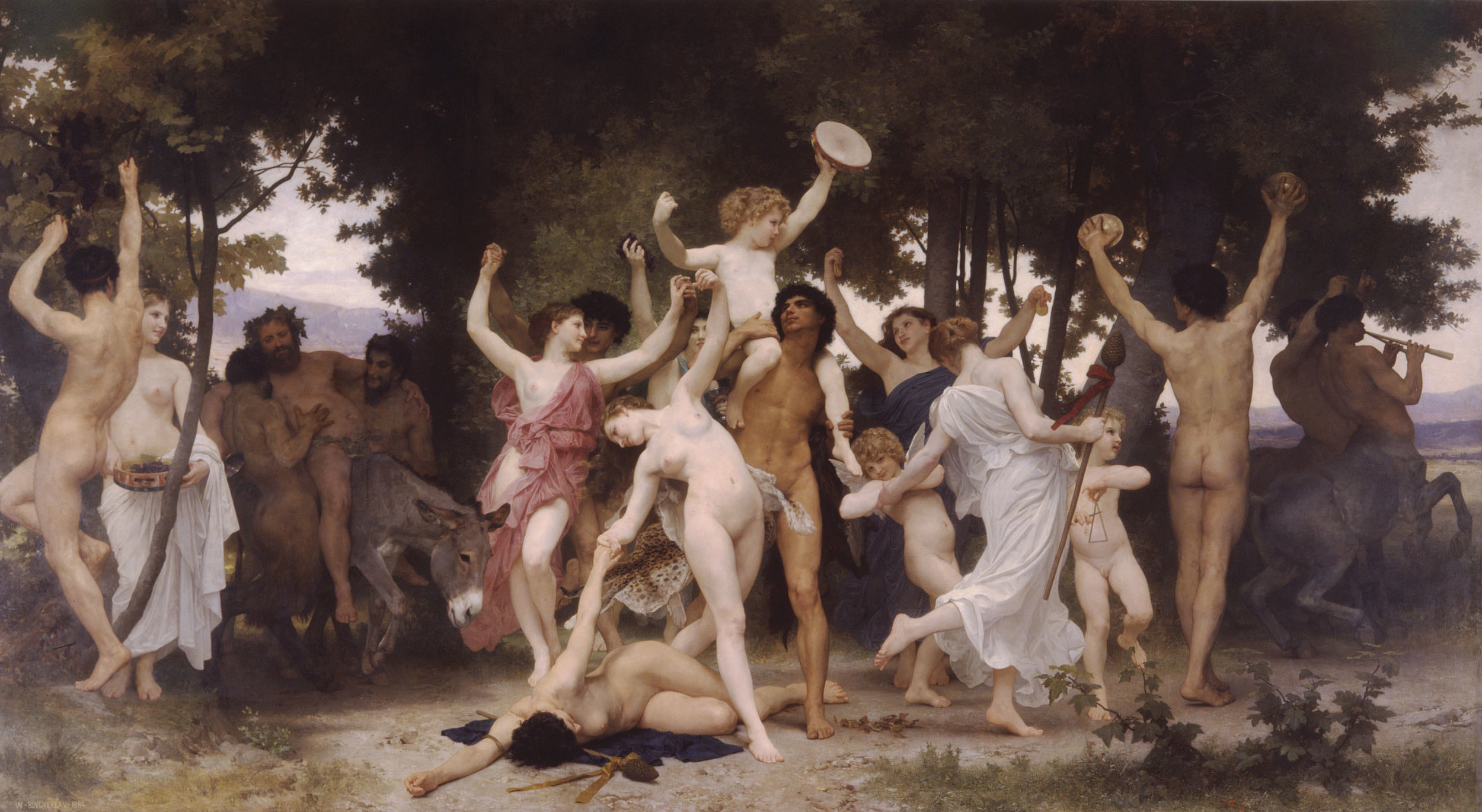 The Youth of Bacchus  -William Bouguereau