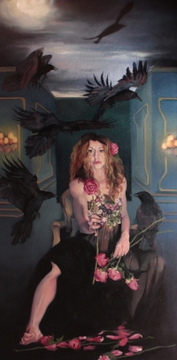 Medium: oil on linen Size: 70″ x 35″ Available through  www.stricoff.com