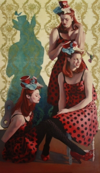 Medium: oil on linen Size: 70″ x 40″ Available through  www.stricoff.com