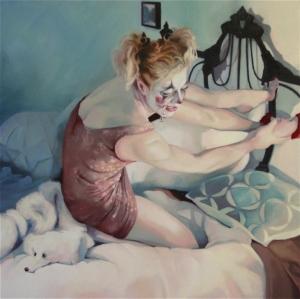 Medium: oil on canvas Size: 30″ x 30″ Available through  www.stricoff.com