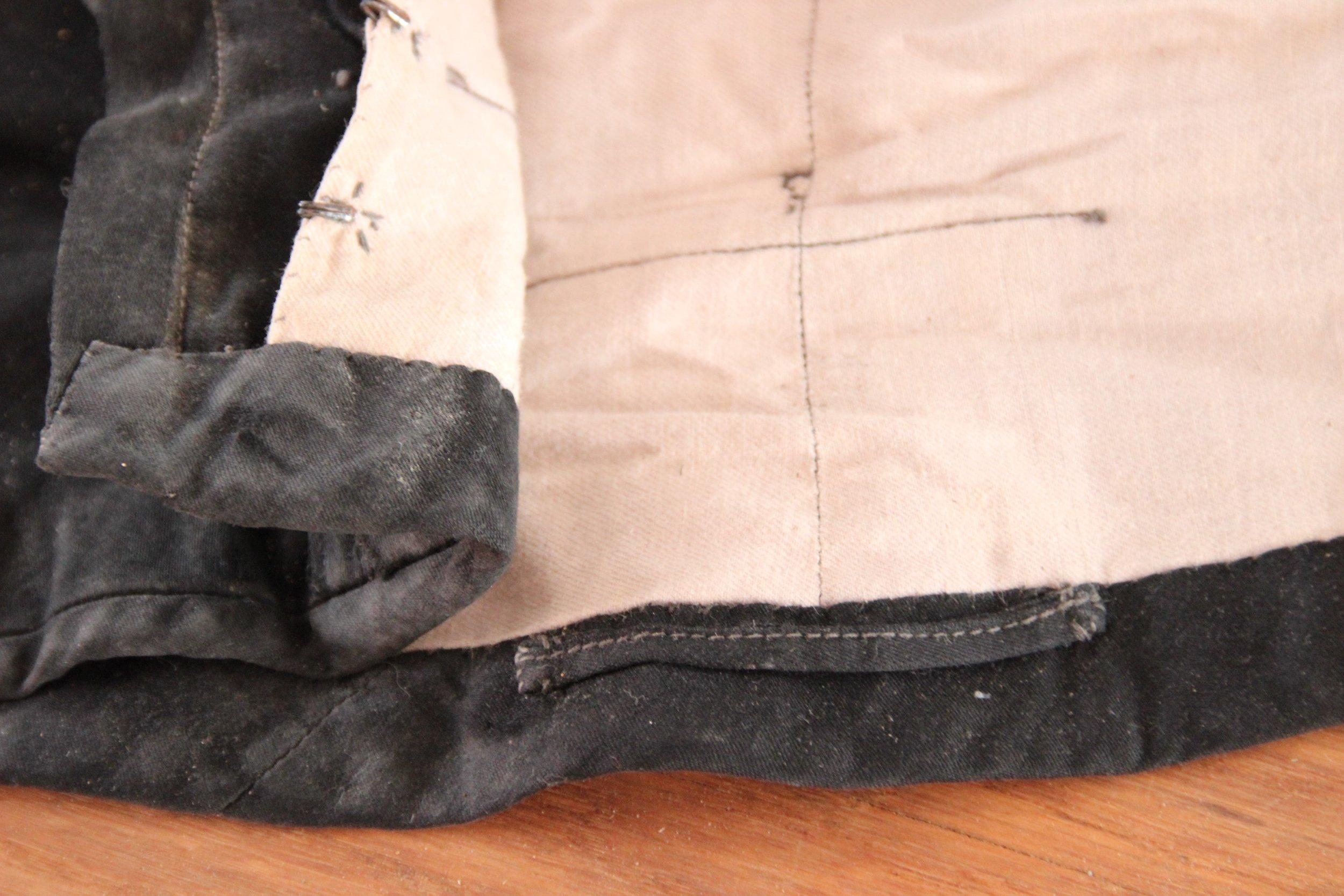 Lining of black jacket