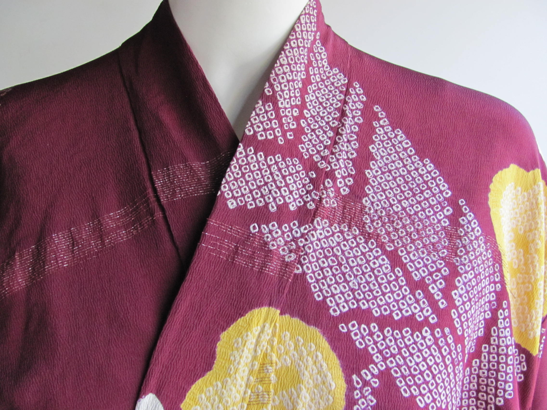 Silk, and dyed kimono: Japan