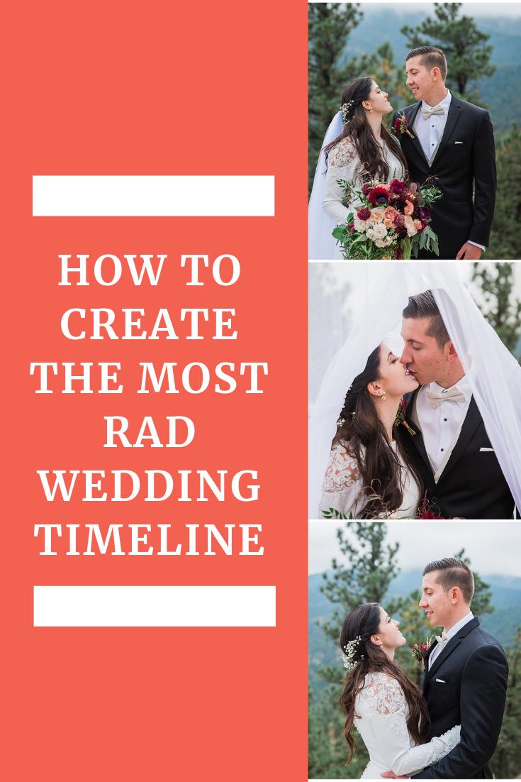 photographer wedding timeline