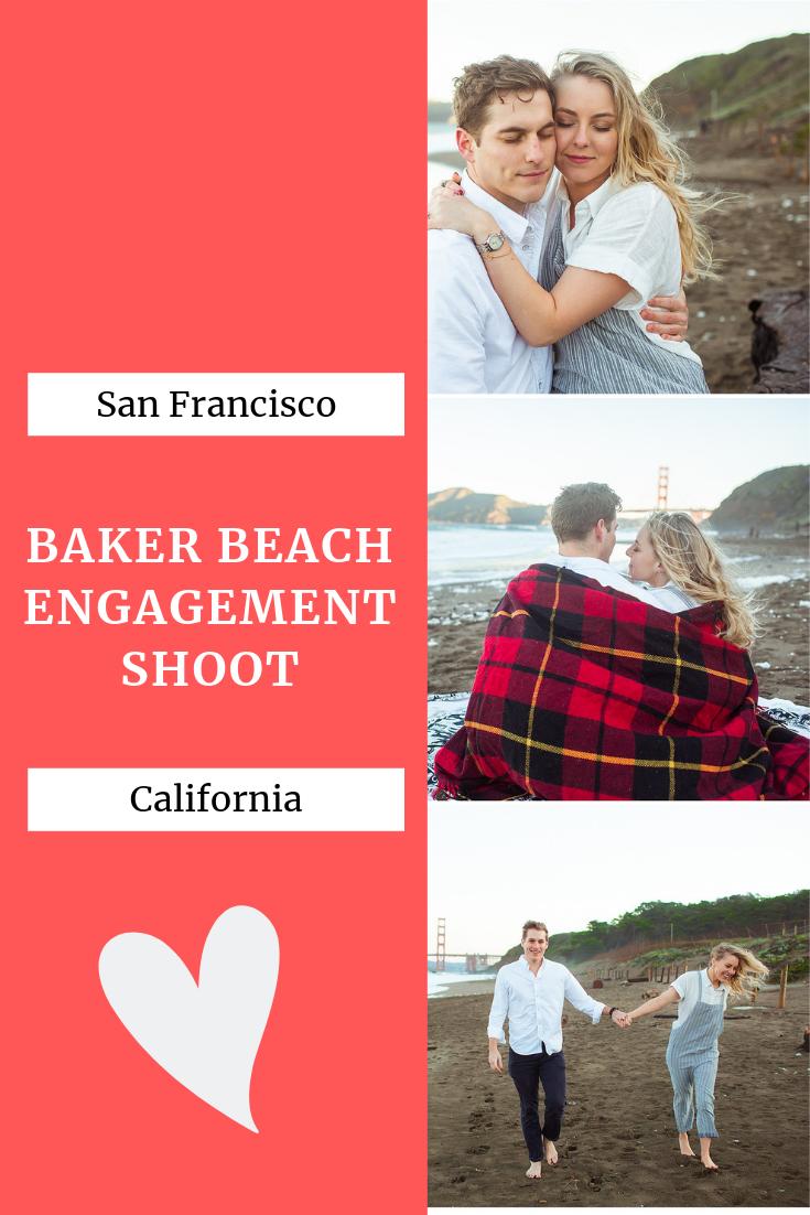 Baker beach engagement shoot
