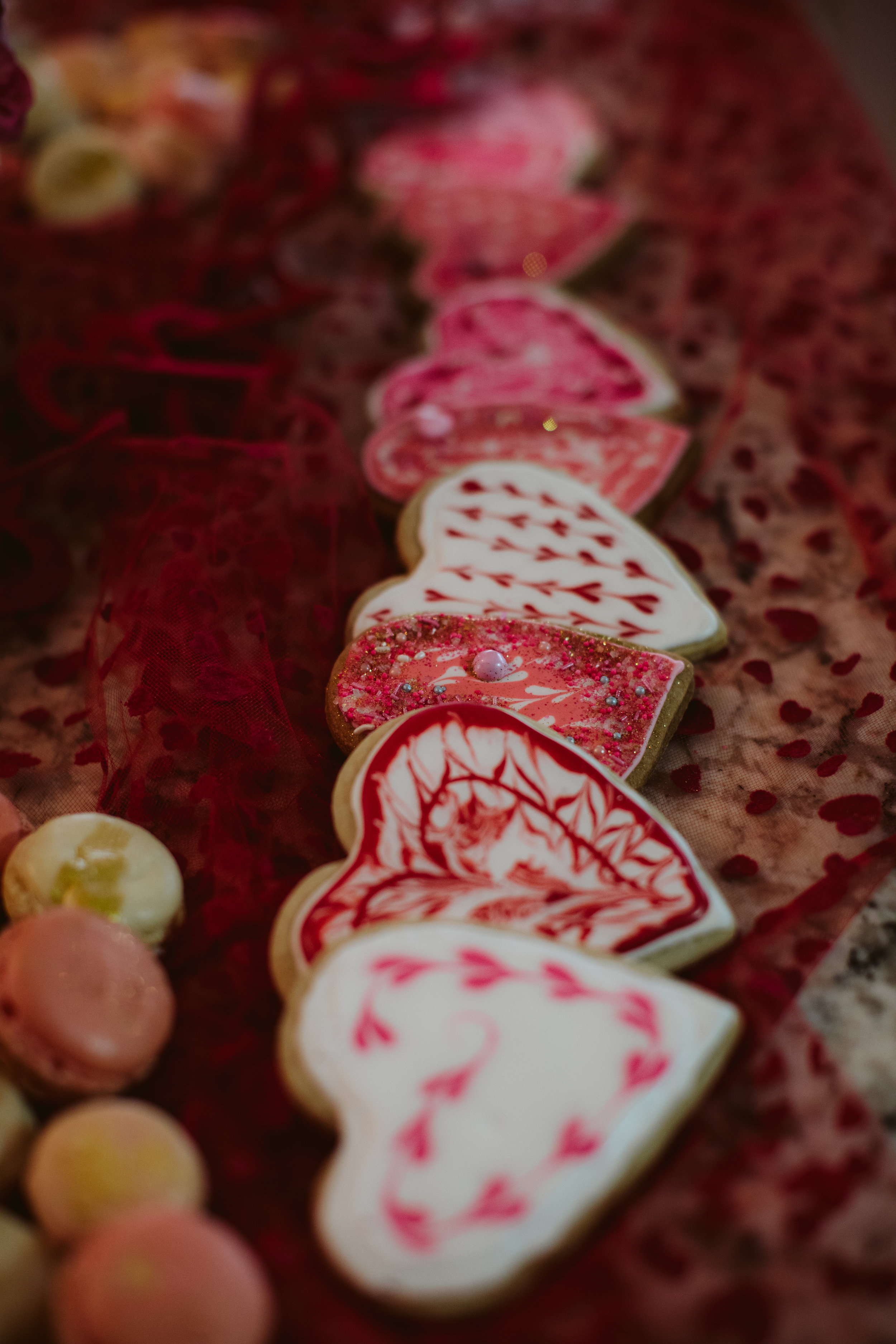 Valentines heart shaped cookies | Southern Oregon Wedding Photographer