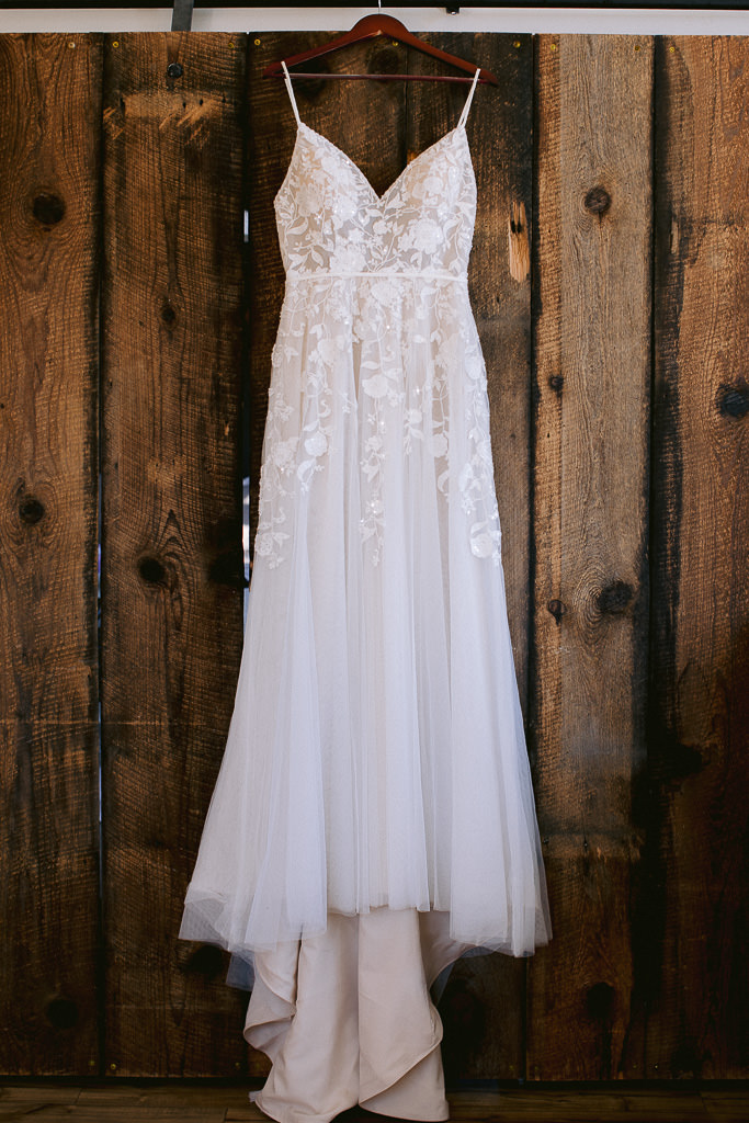 Beautiful Ivory Wedding Dress with beading detail
