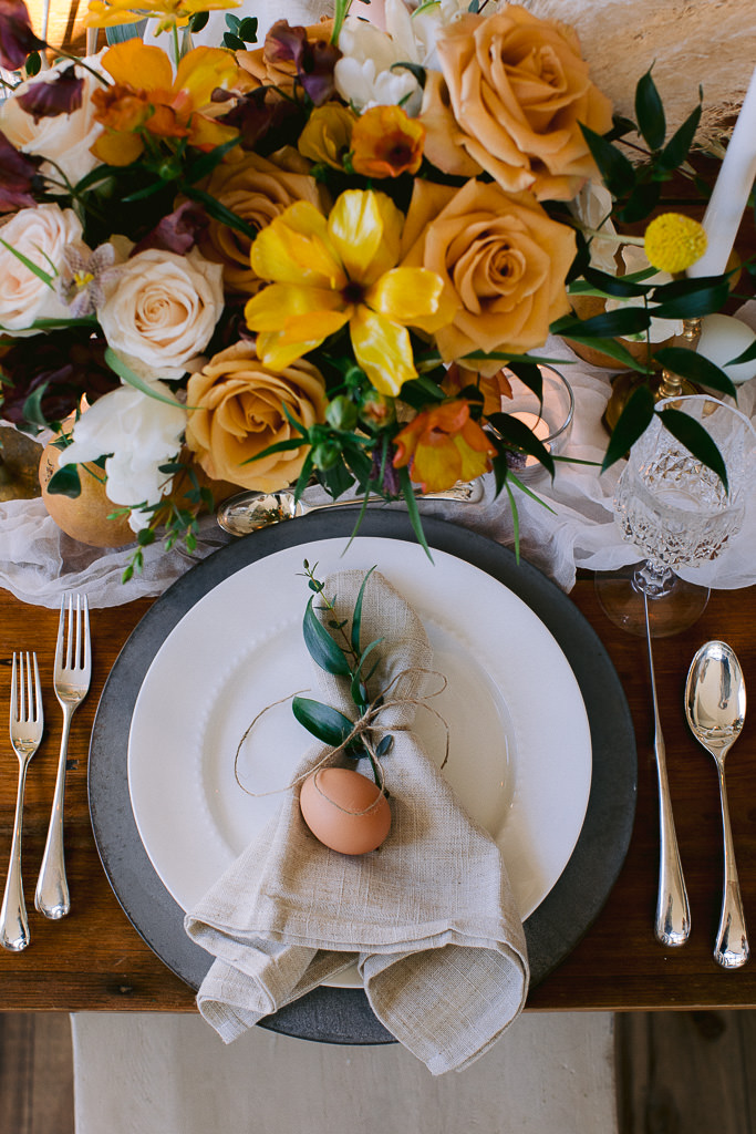 Gold, Yellows and Purple styled Wedding Table | Wedding Styling