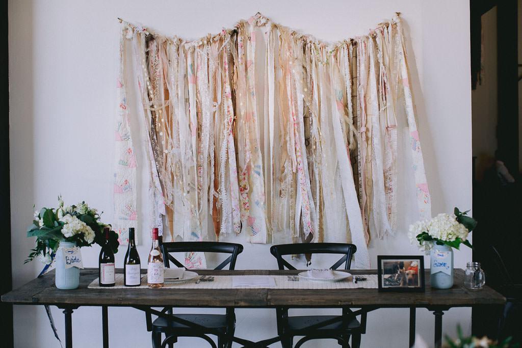 Wedding sweet-heart table