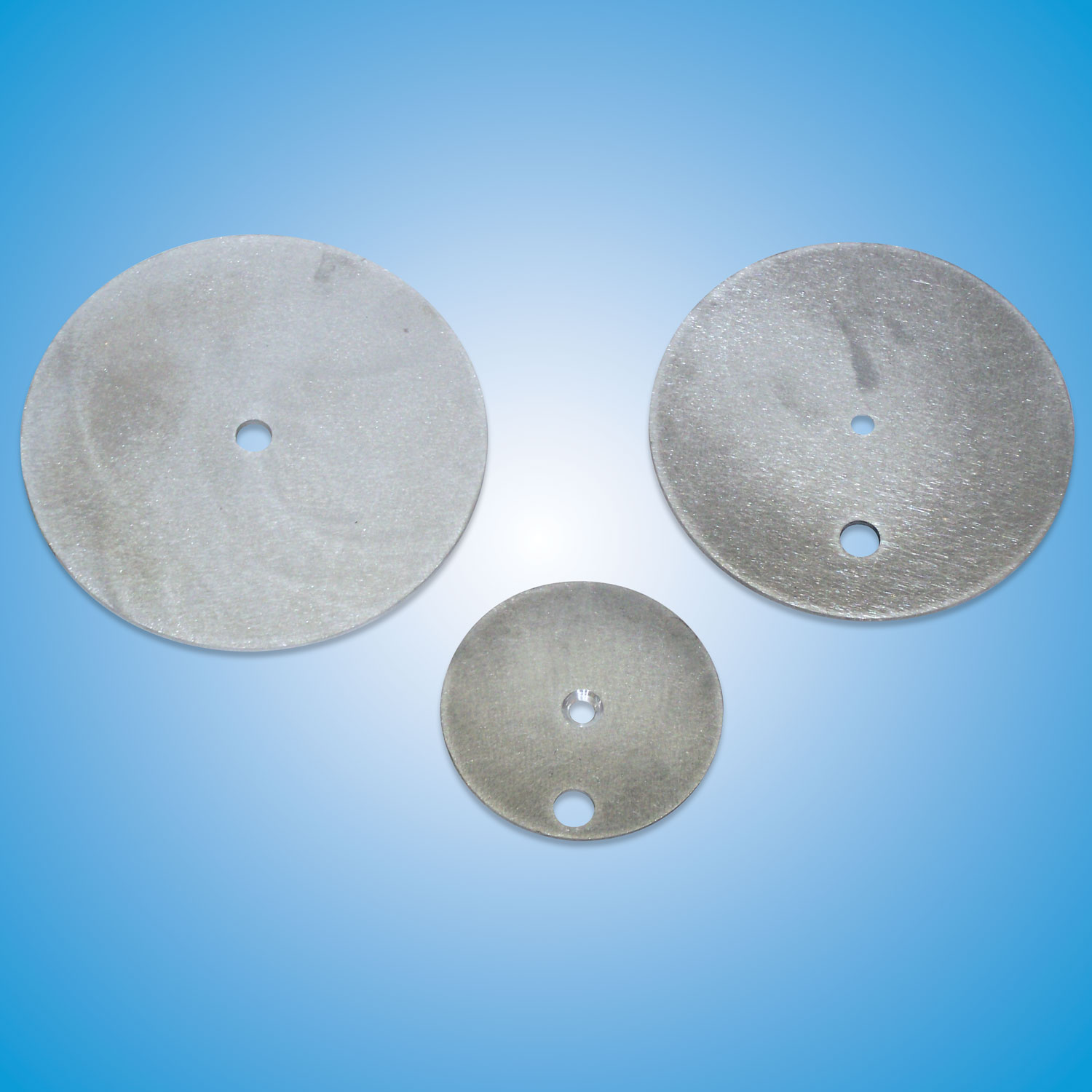 Aluminum Launcher Discs    Air Launcher Disc (small and large)  Part #6ROUND1HOLE — $27   Spring Launcher Replacement Disc (small 2-hole)  Part #4035 — $26   Spring Launcher Replacement Disc (large 2-hole)  Part #4055 — $28