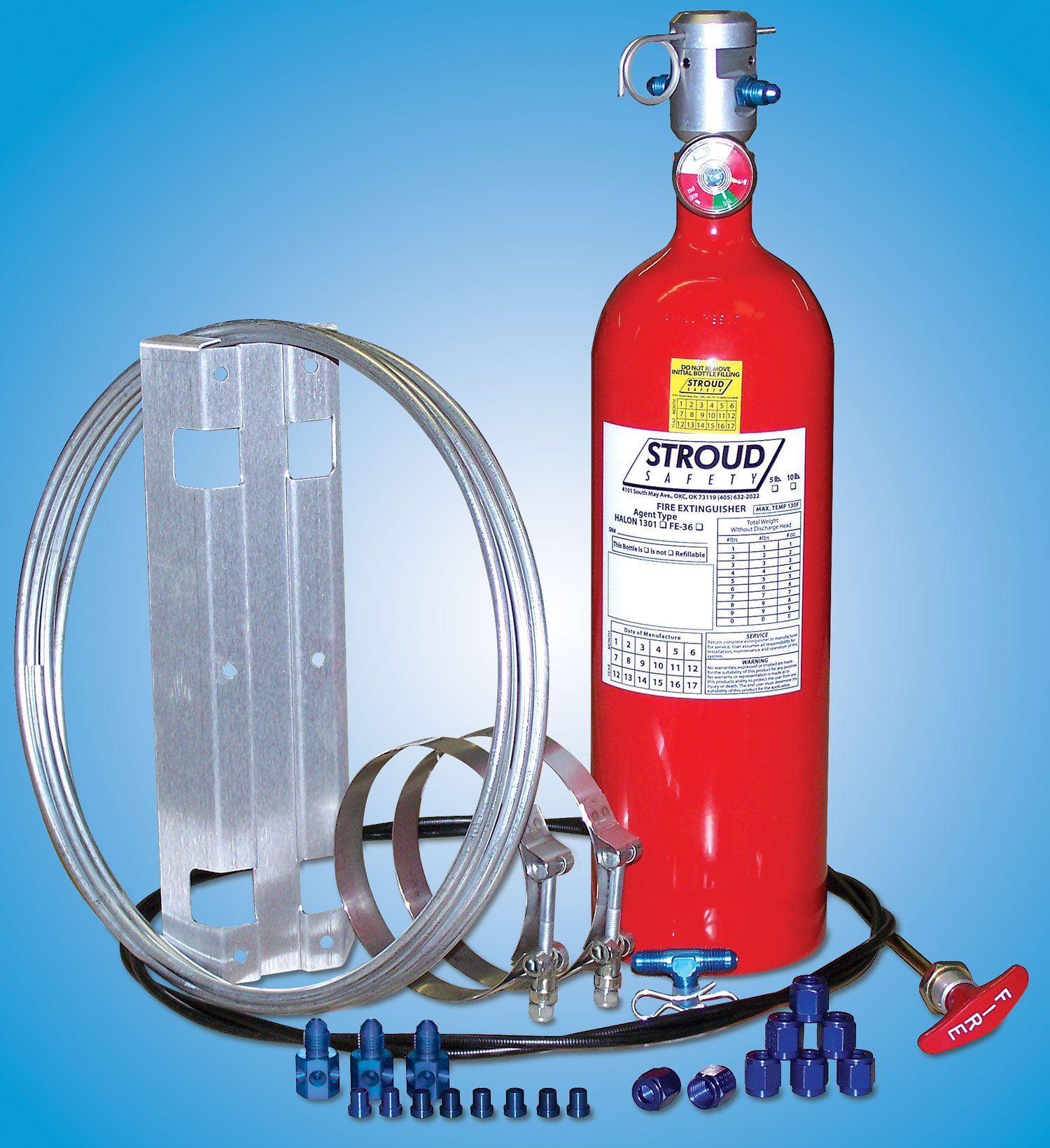 Fire Suppression Bottle and Components