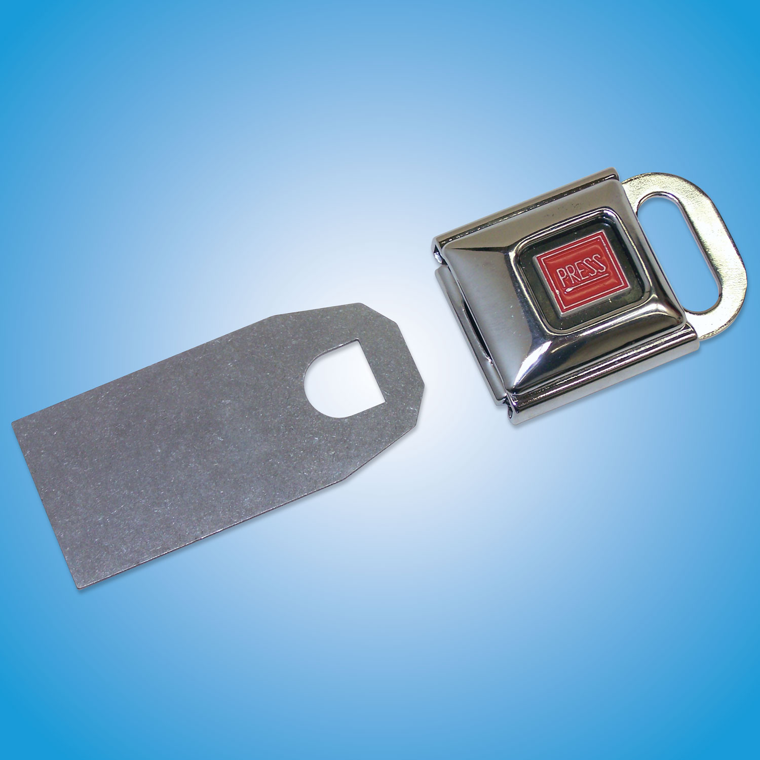 Latch Components    Buckle  Part #504 — $15   Weld Tab  Part #504WELD — $14