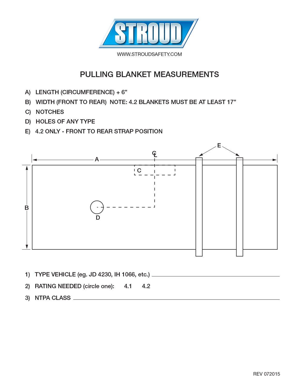 Pulling Blanket Measuring Instructions