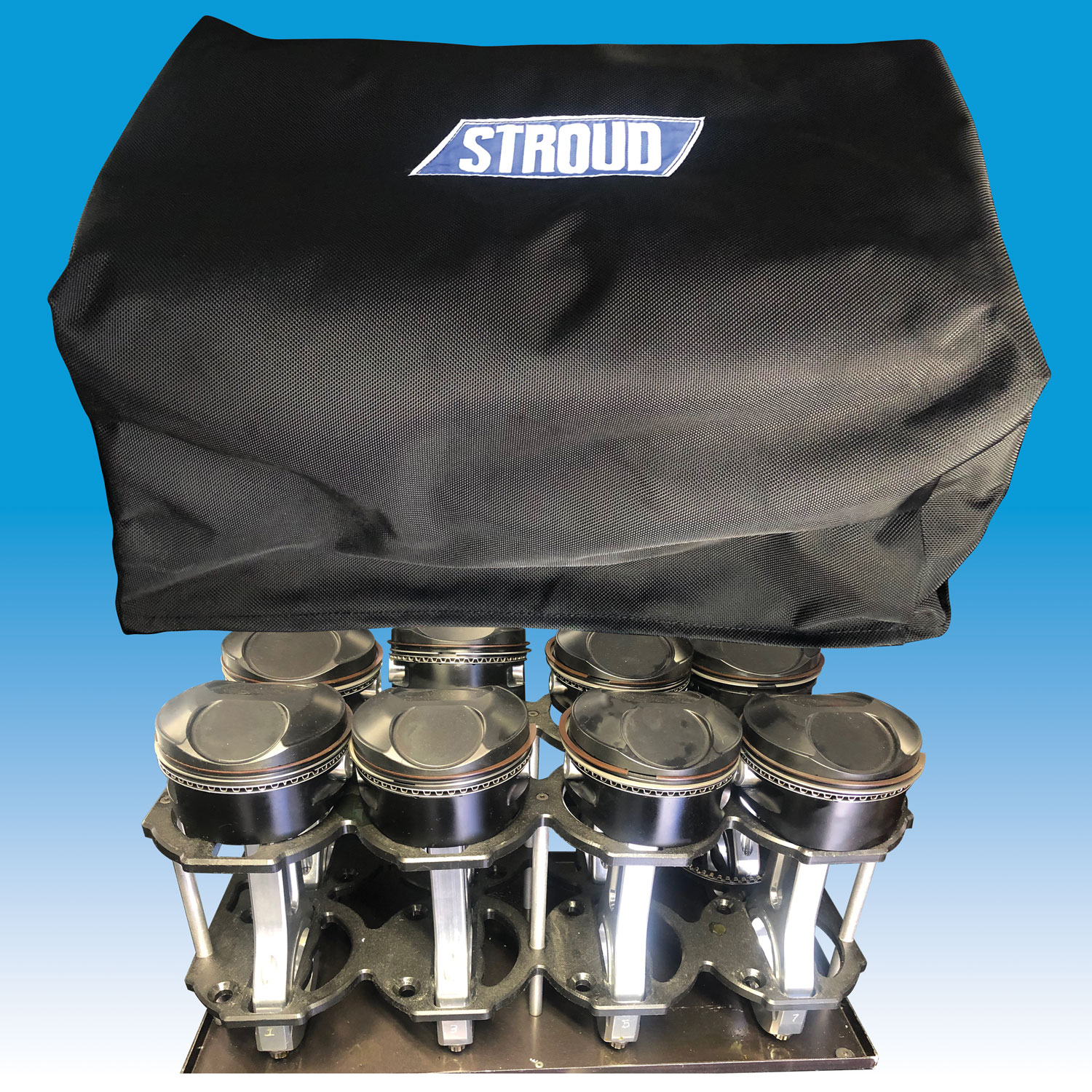 Pistons Cover   Keep pistons free of dirt and debris at the track or shop.  Part #Piston Cover — $38