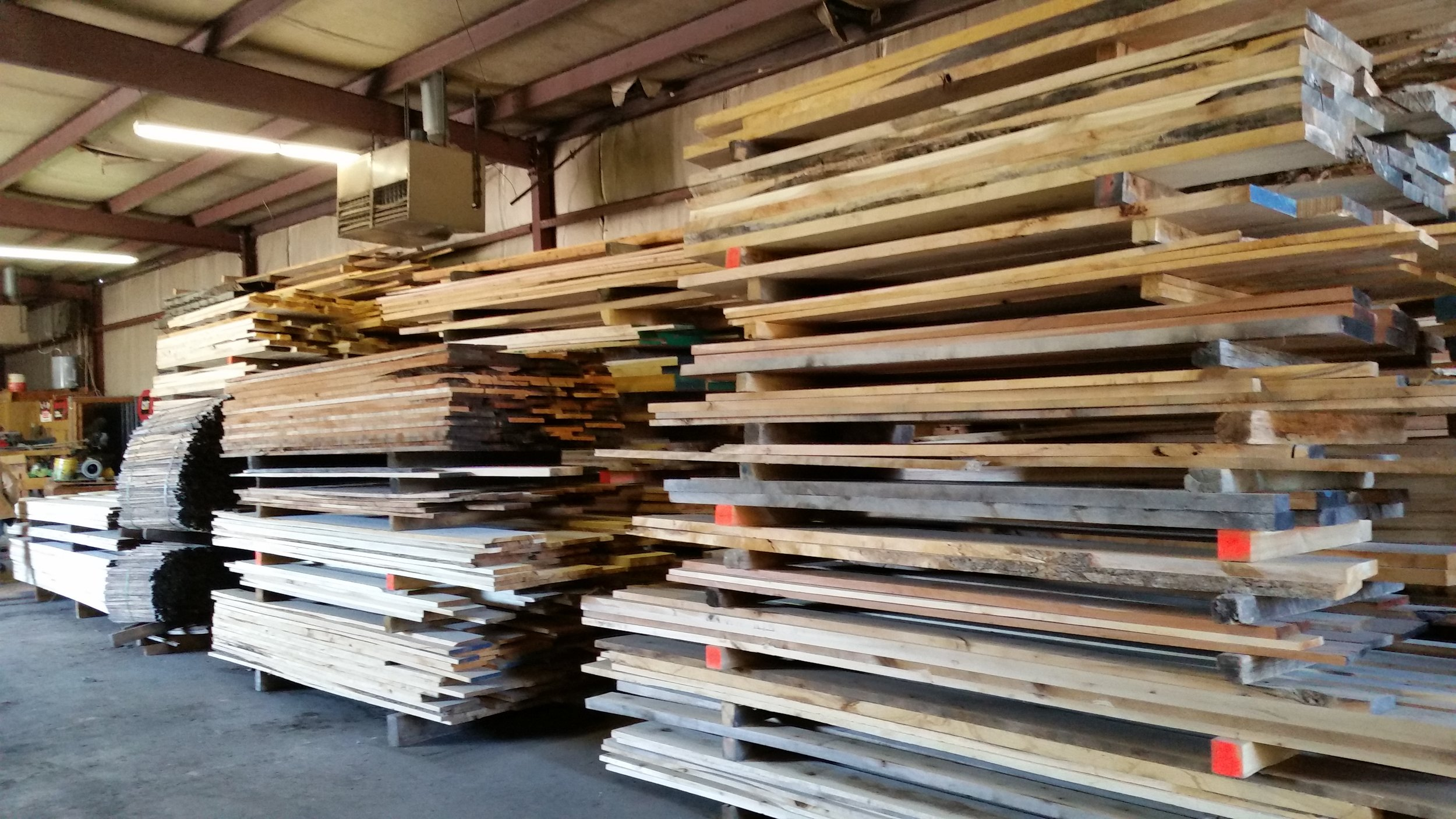 Indoor Lumber Yard
