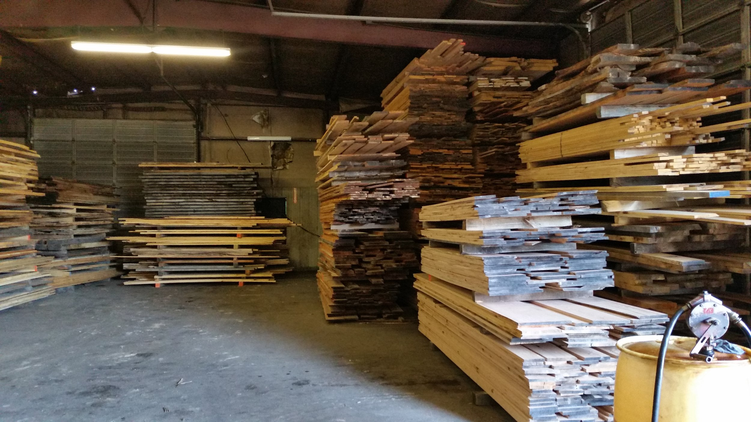 Indoor Lumber Yard