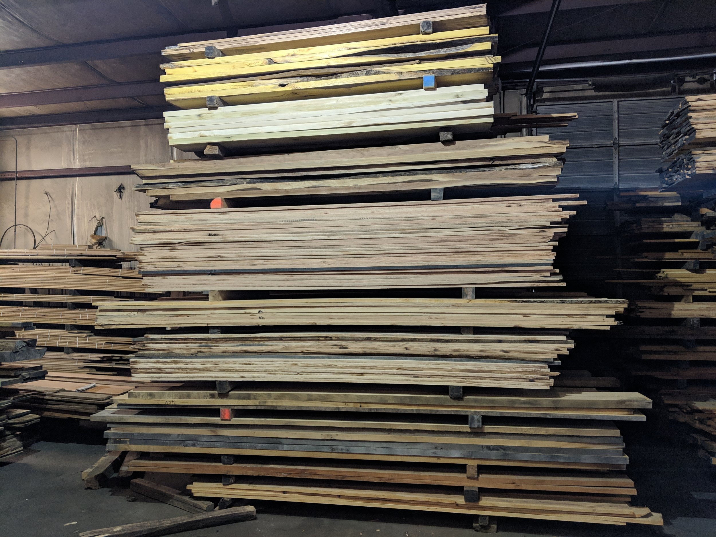 Variety of Hardwood Lumber