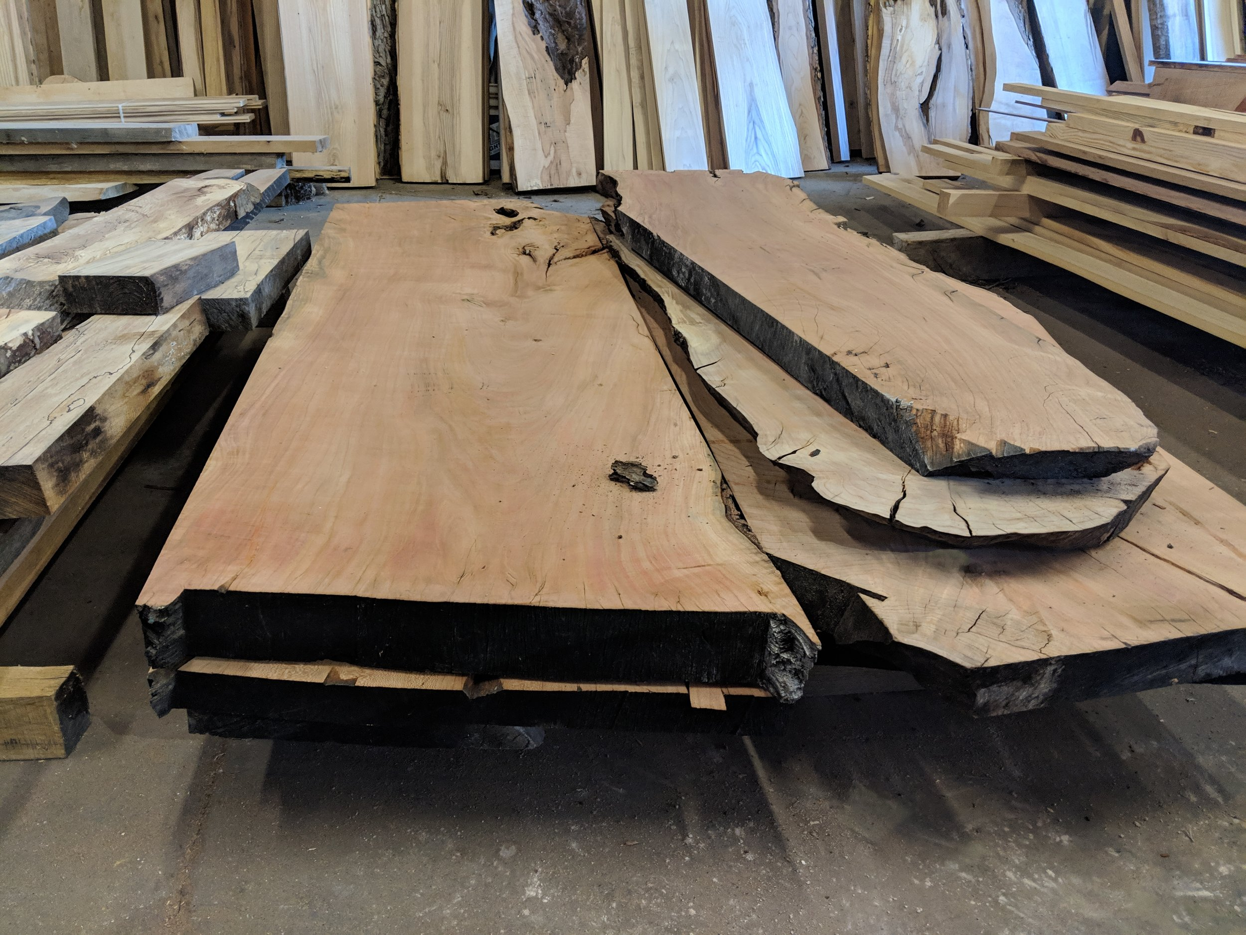 Extra Wide Hardwood Slabs